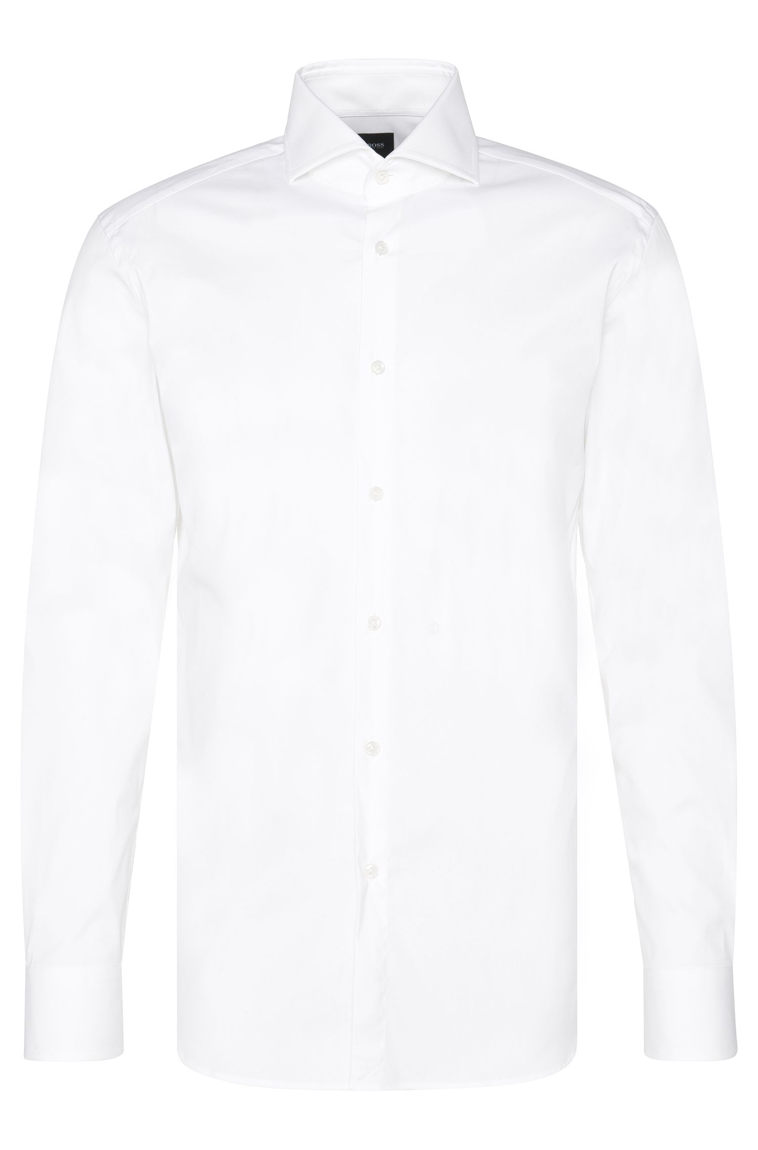 Camicia Tailored slim fit in cotone con bottoni in madreperla: 'T-Christo'