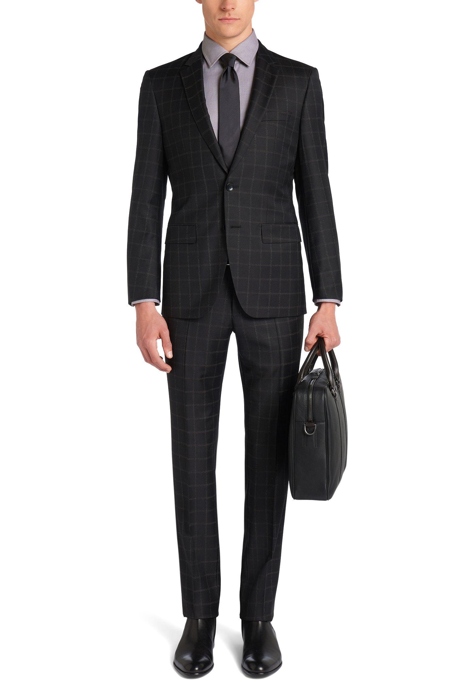 Chemise Slim Fit Tailored en coton à motif: «T-Shane»