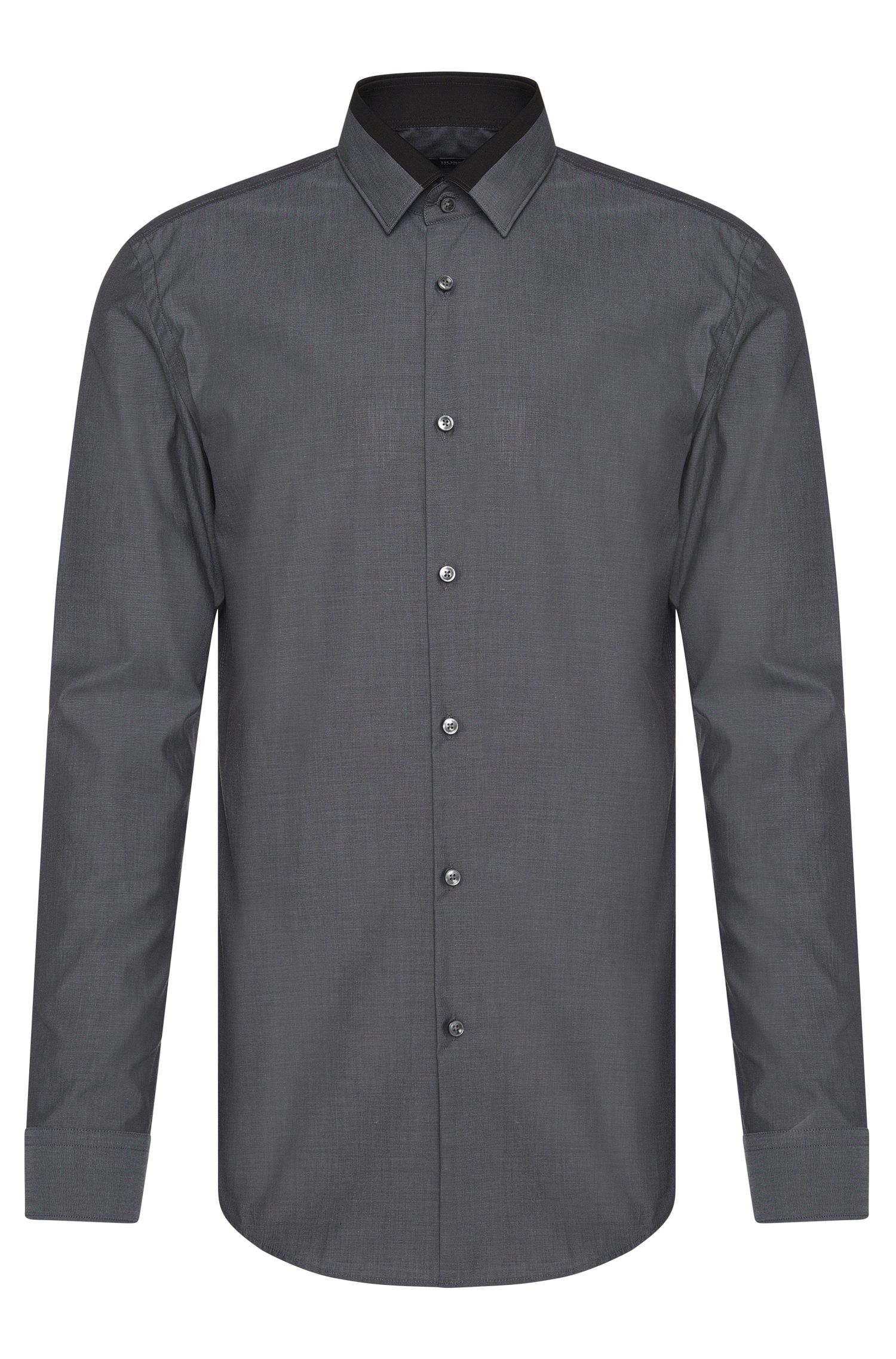 Slim-fit shirt in pure cotton with contrasting details: 'Jarret'