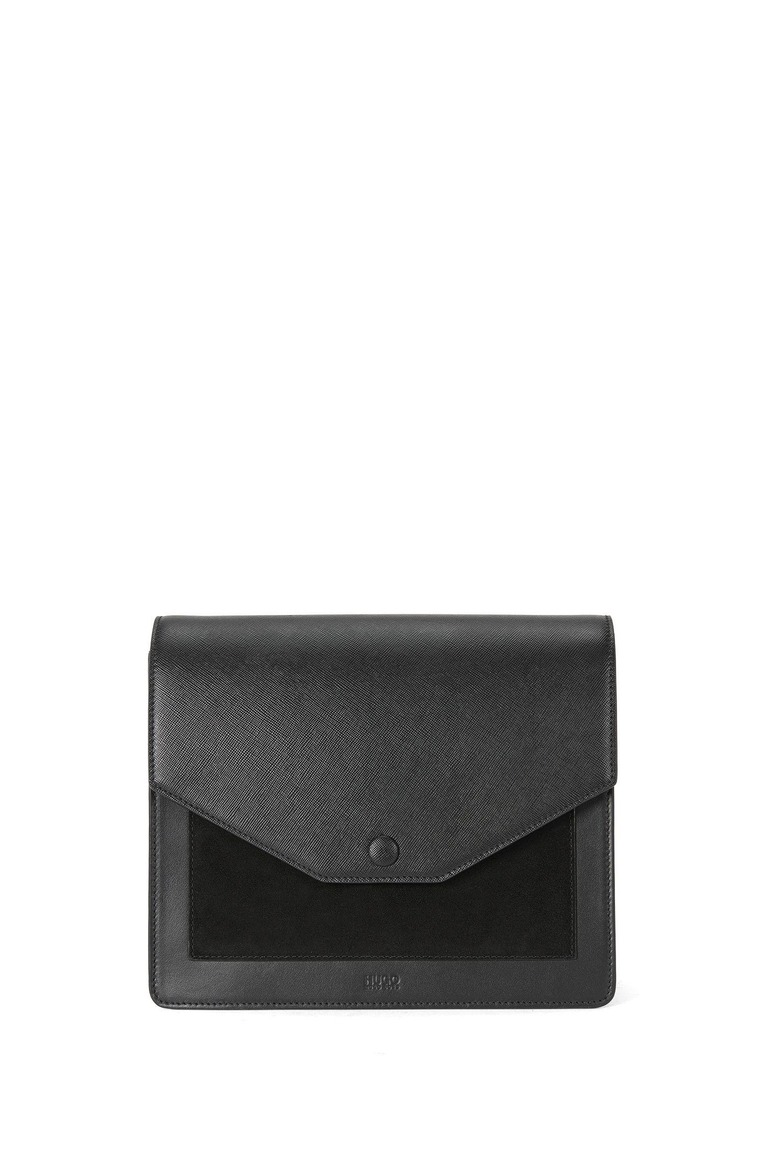 Umhängetasche aus Leder im Color-Blocking-Design: 'Bea-M'