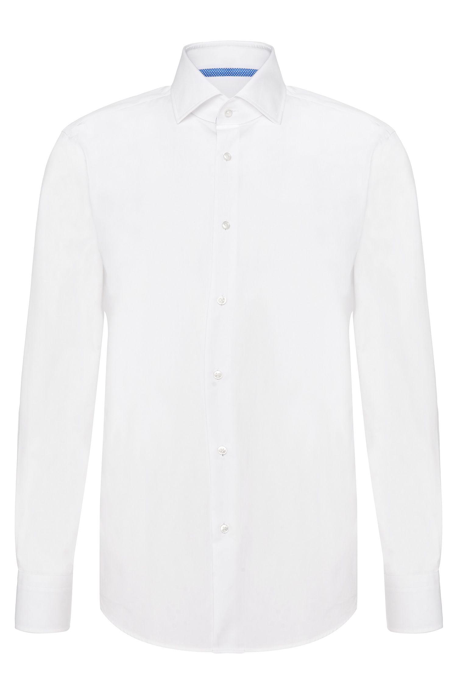 Camicia regular fit in cotone con dettagli a contrasto: 'Gregory'