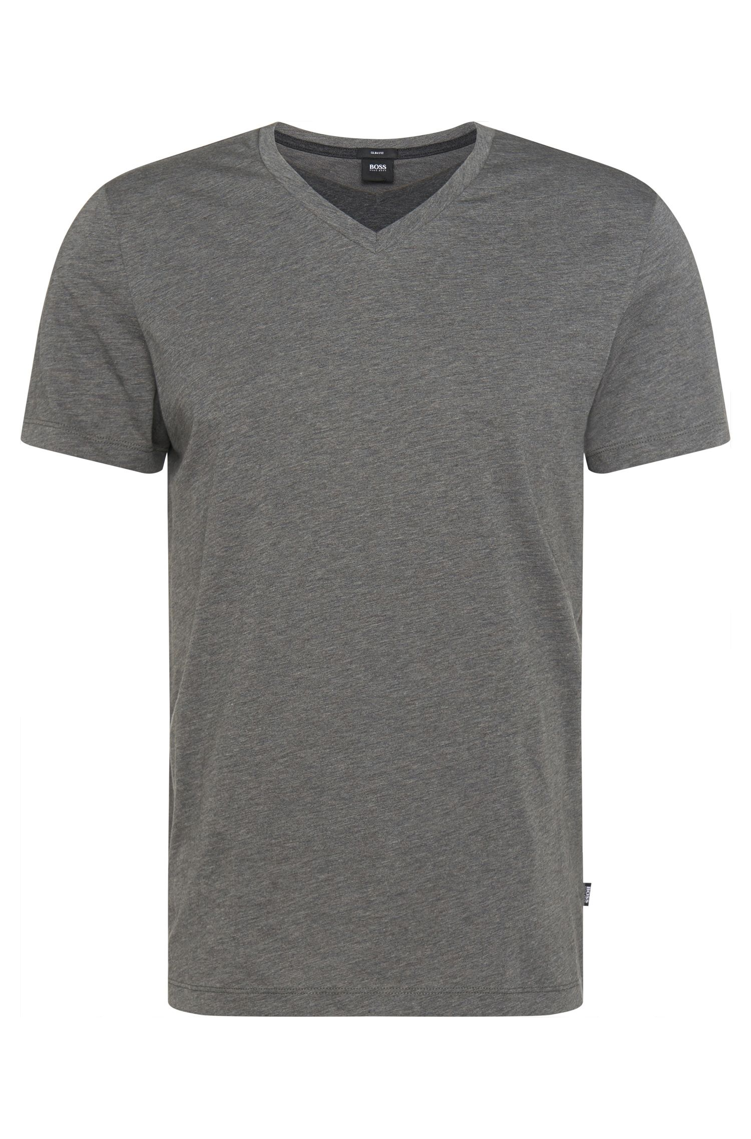 T-shirt slim fit in cotone dal look a strati: 'Teal 12'