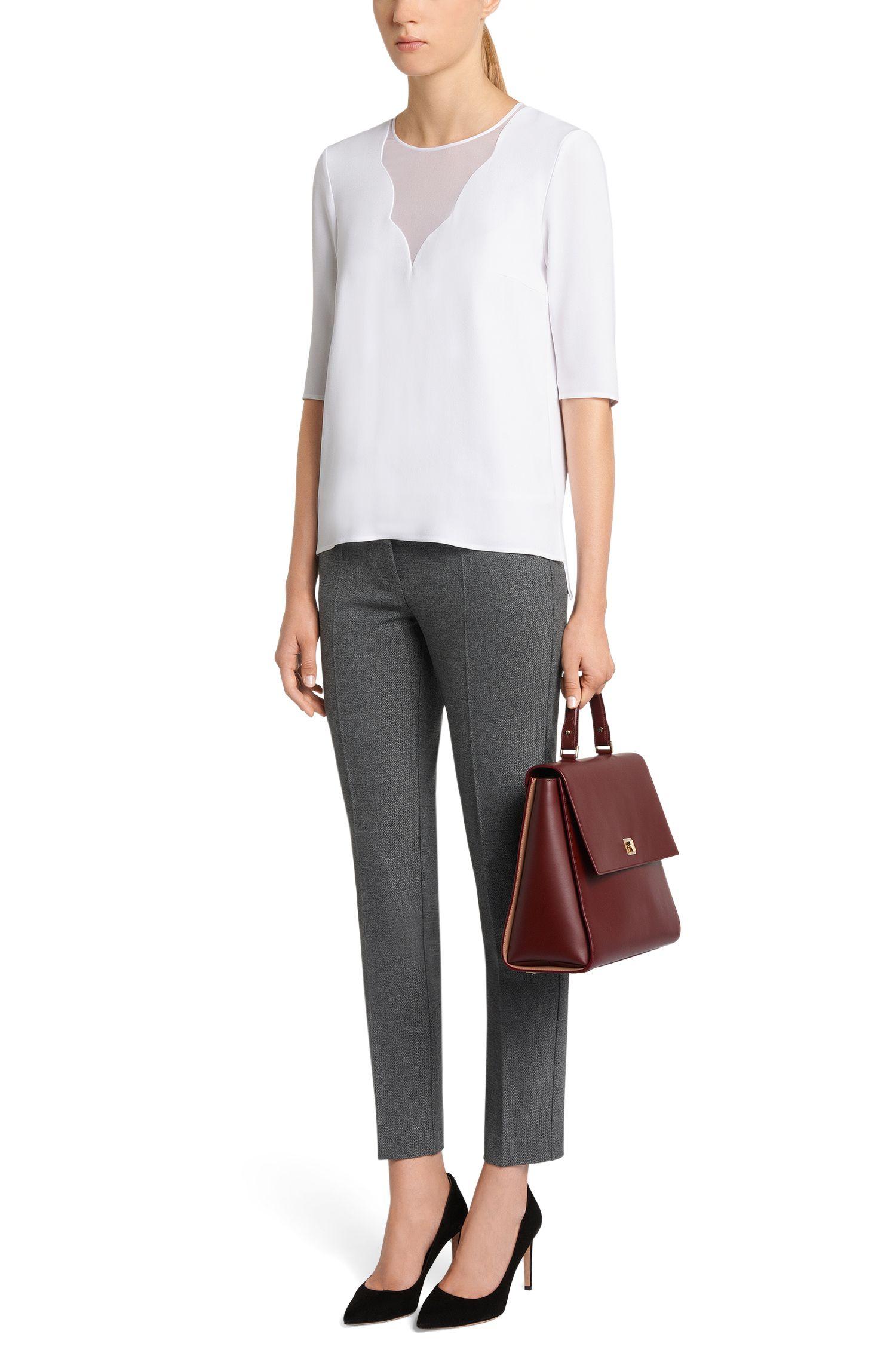 Pantalon Regular-Fit finement chiné avec poches passepoilées factices: «Acnes9»