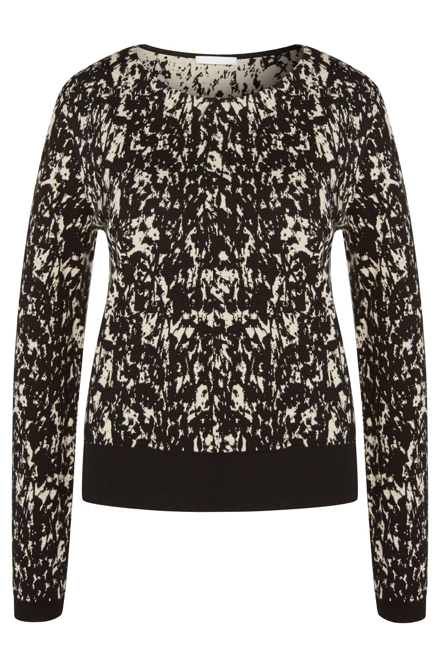 Patterned sweater in viscose blend: 'Emka'