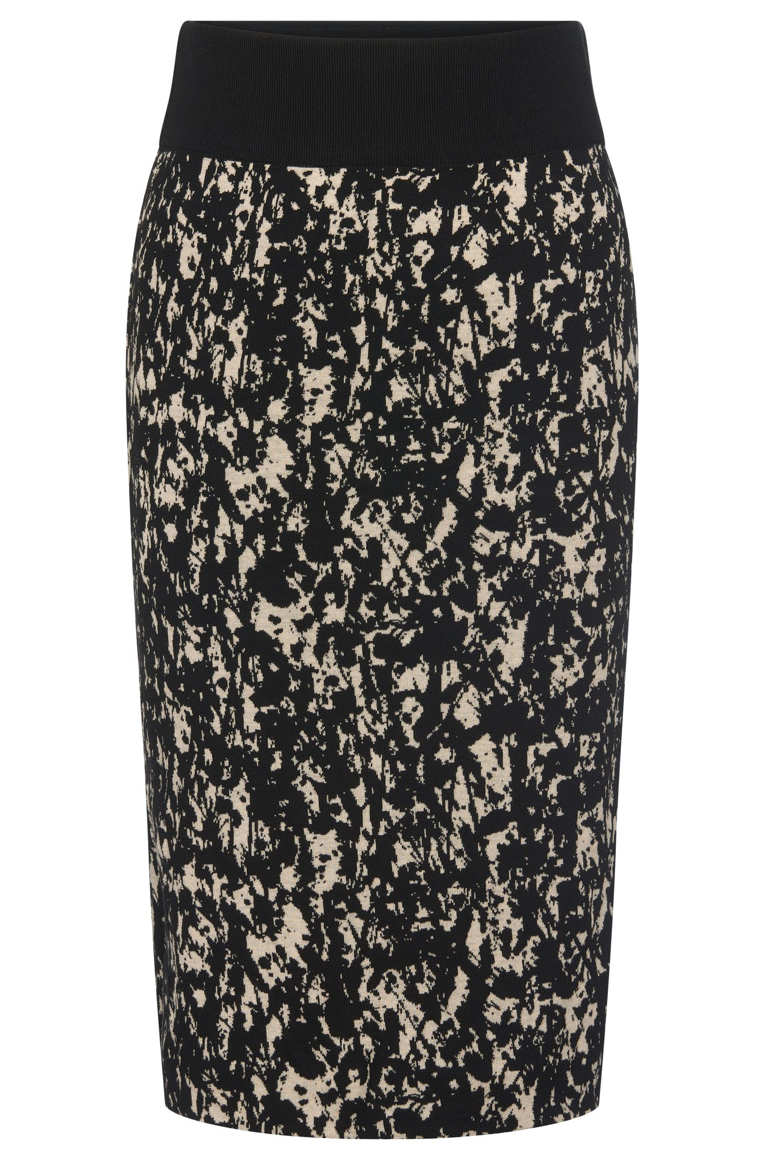 Patterned knitwear skirt in cotton blend with viscose: 'Emkara'