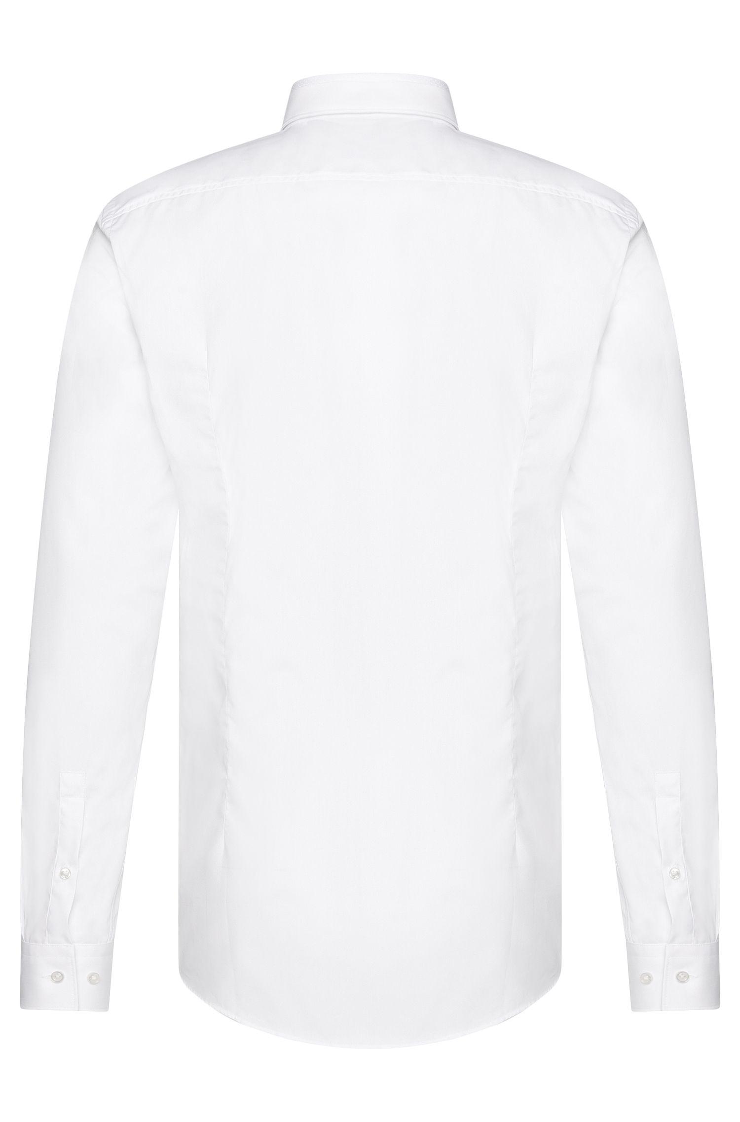 Chemise Slim Fit en coton dotée d'un col structuré: «Jarret»