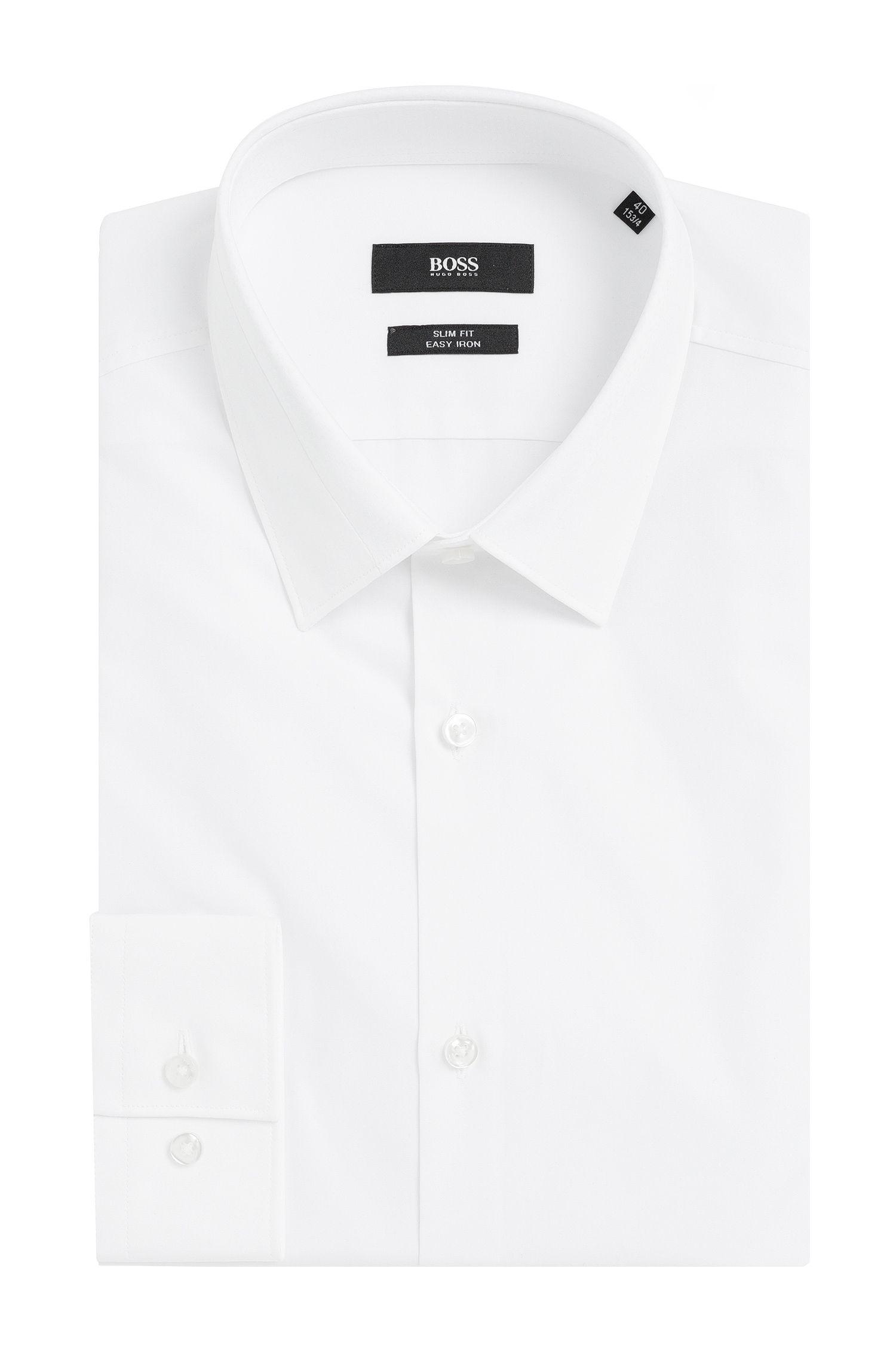 Slim-Fit Hemd aus Baumwolle mit strukturiertem Kragen: 'Jarret'