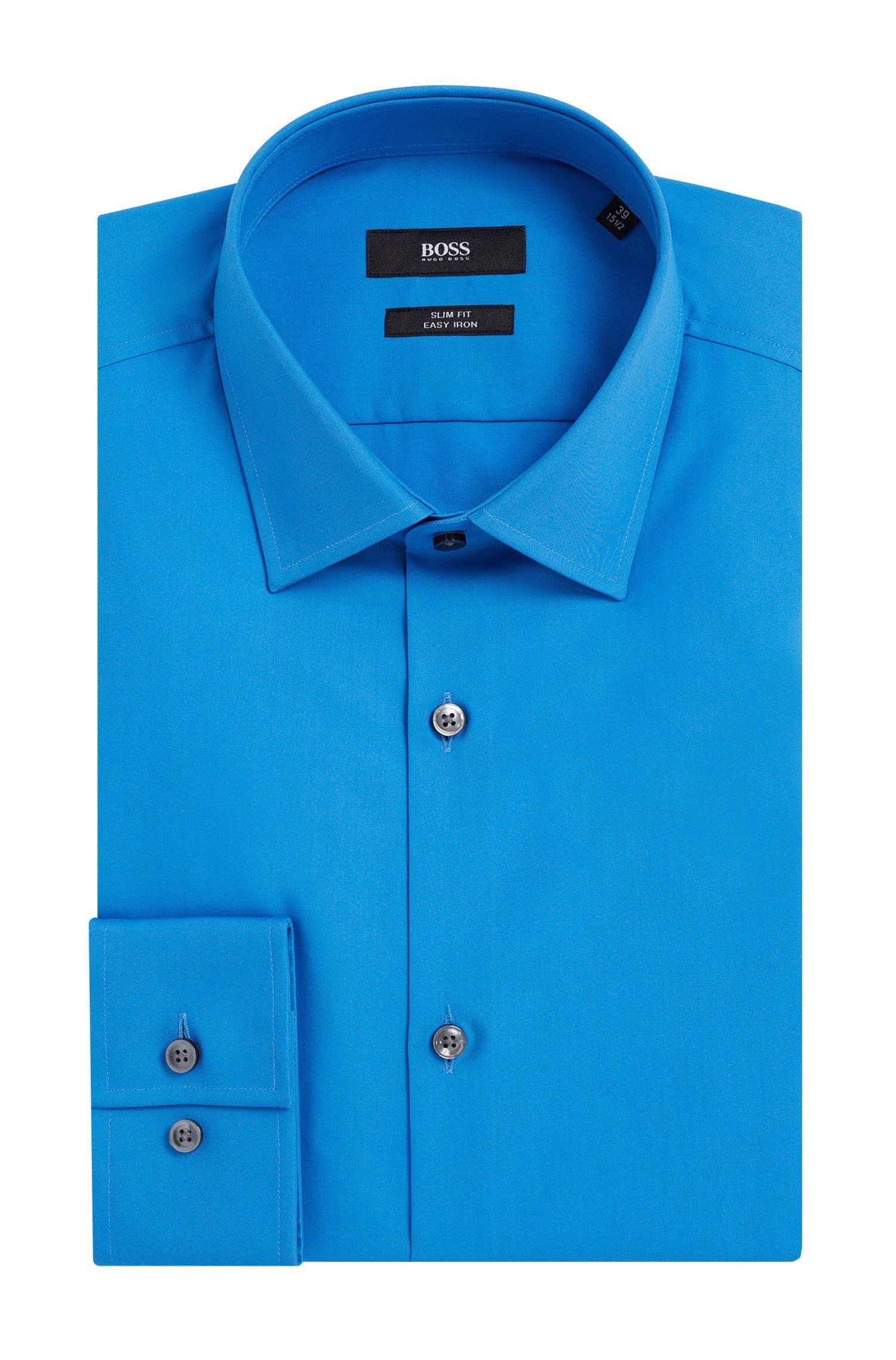 Slim-fit overhemd van gemakkelijk te strijken katoen: 'Jenno'