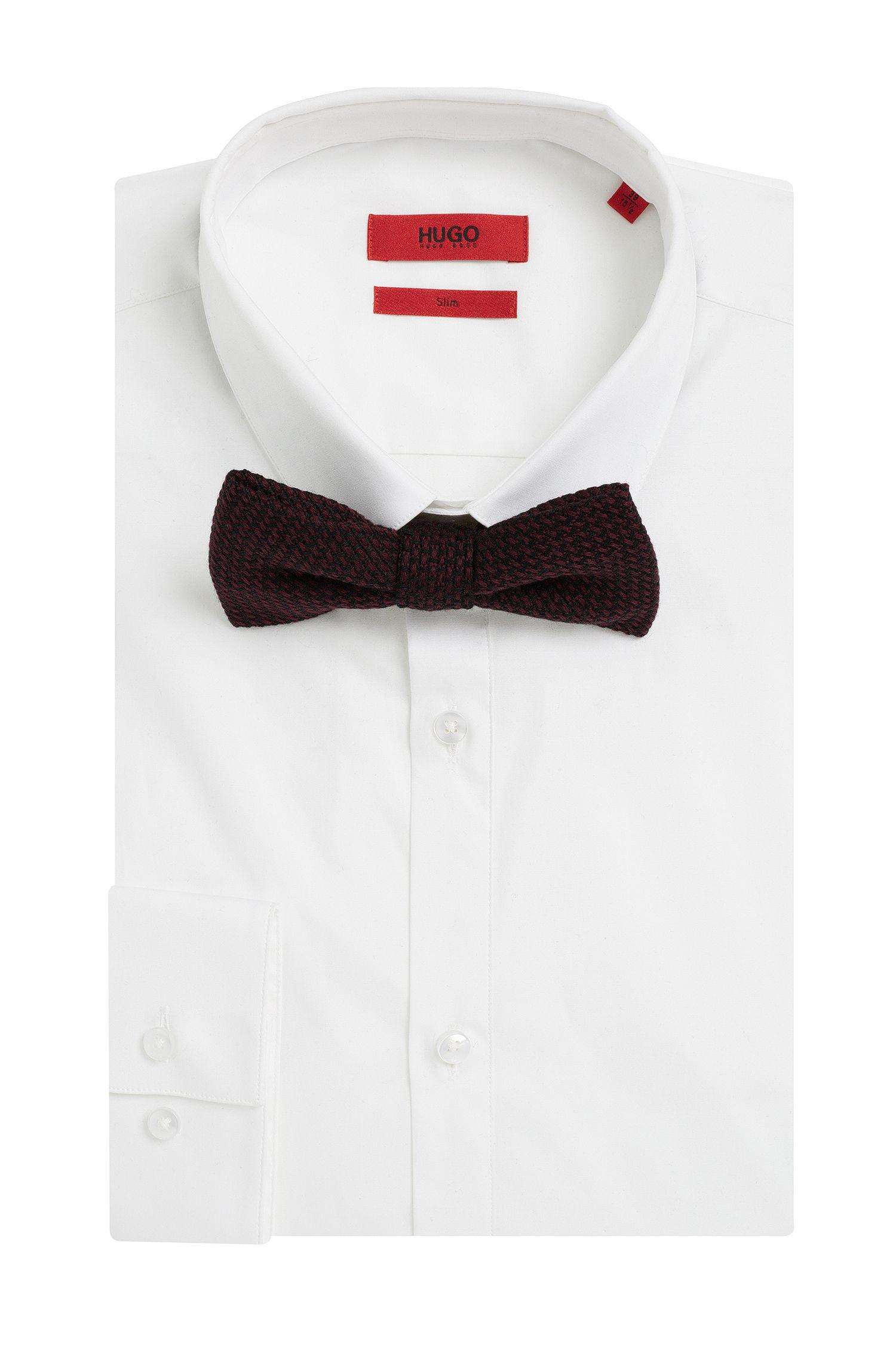 Zweifarbige Fliege aus Wolle: 'Big bow tie'