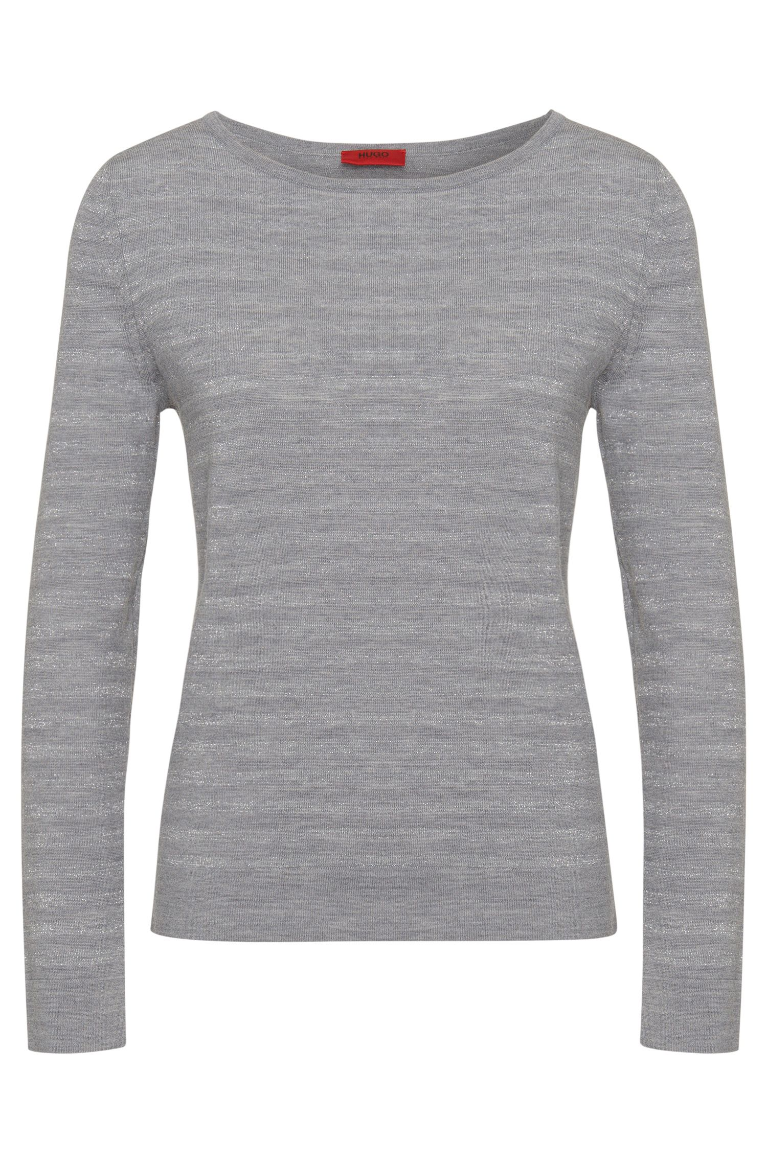 Sweater in new-wool blend with metal fibres: 'Salmira'