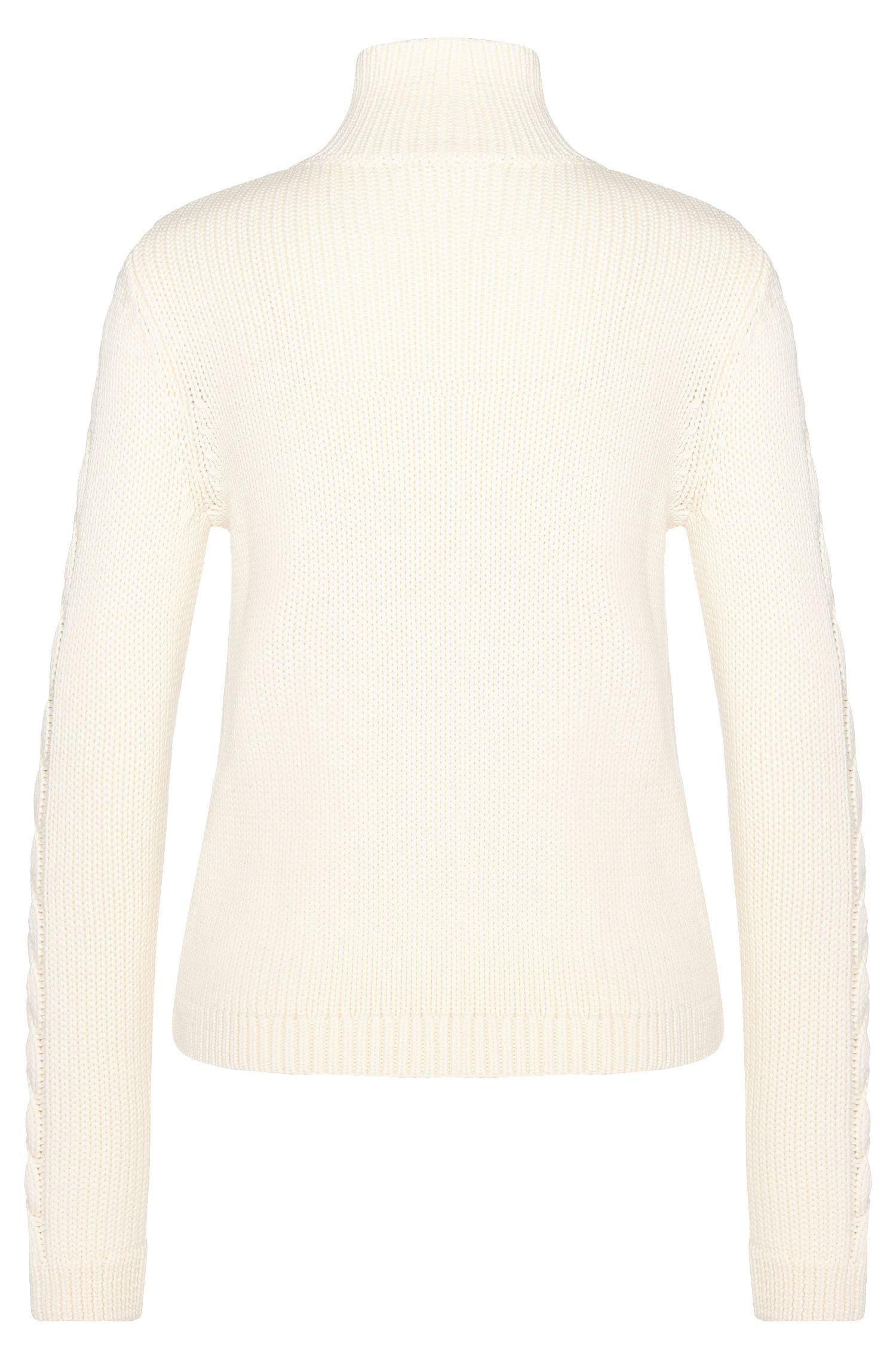 Rollkragen-Pullover aus Schurwolle: 'Samina'