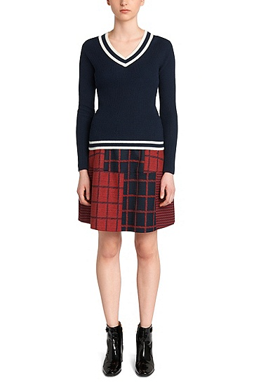 Pullover aus Baumwoll-Mix mit Seiden-Anteil: 'Sarannah', Dunkelblau
