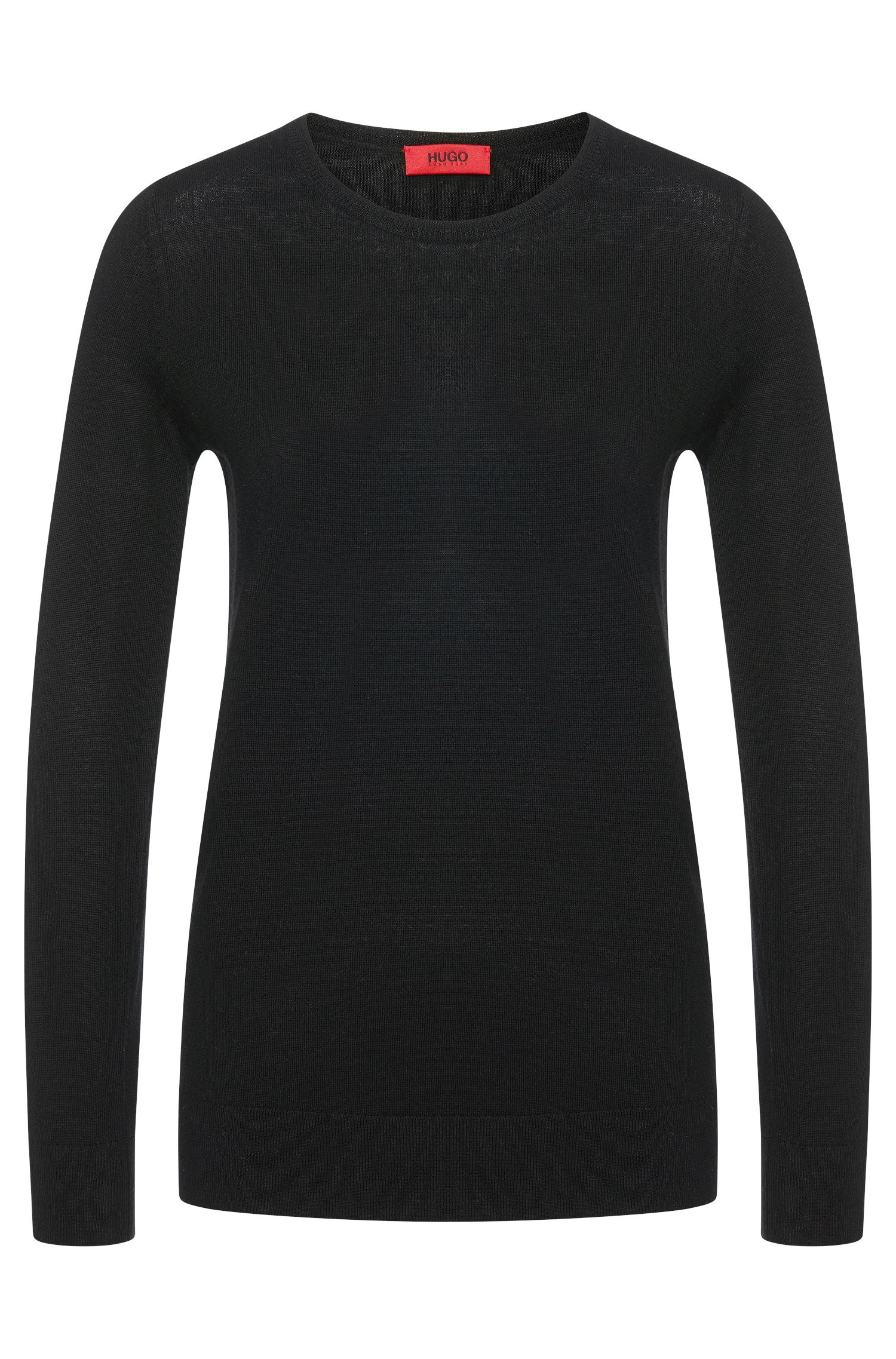 Solid-coloured sweater in new wool: 'Sedella'