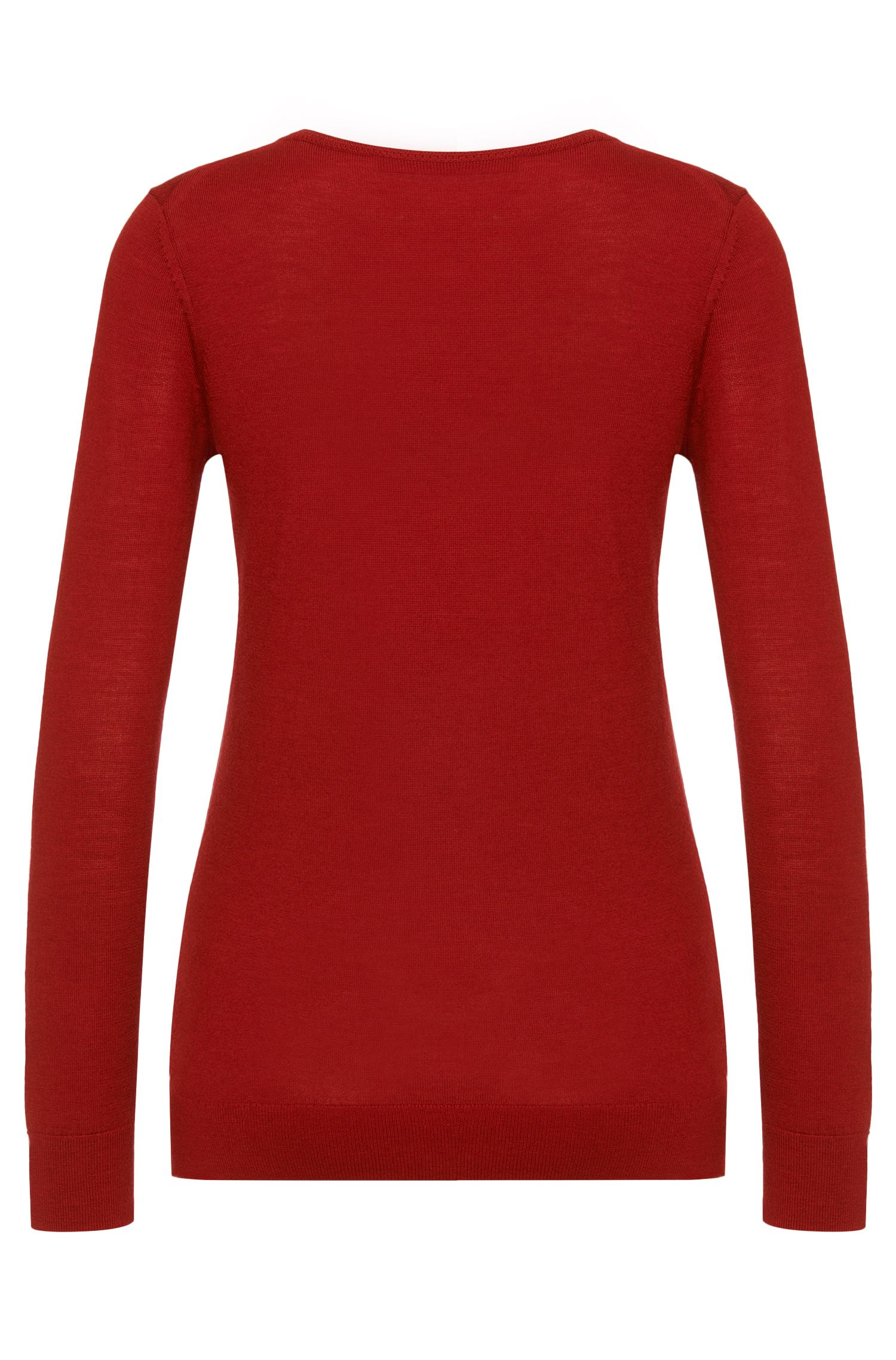 Unifarbener Pullover aus Schurwolle: 'Sedella'