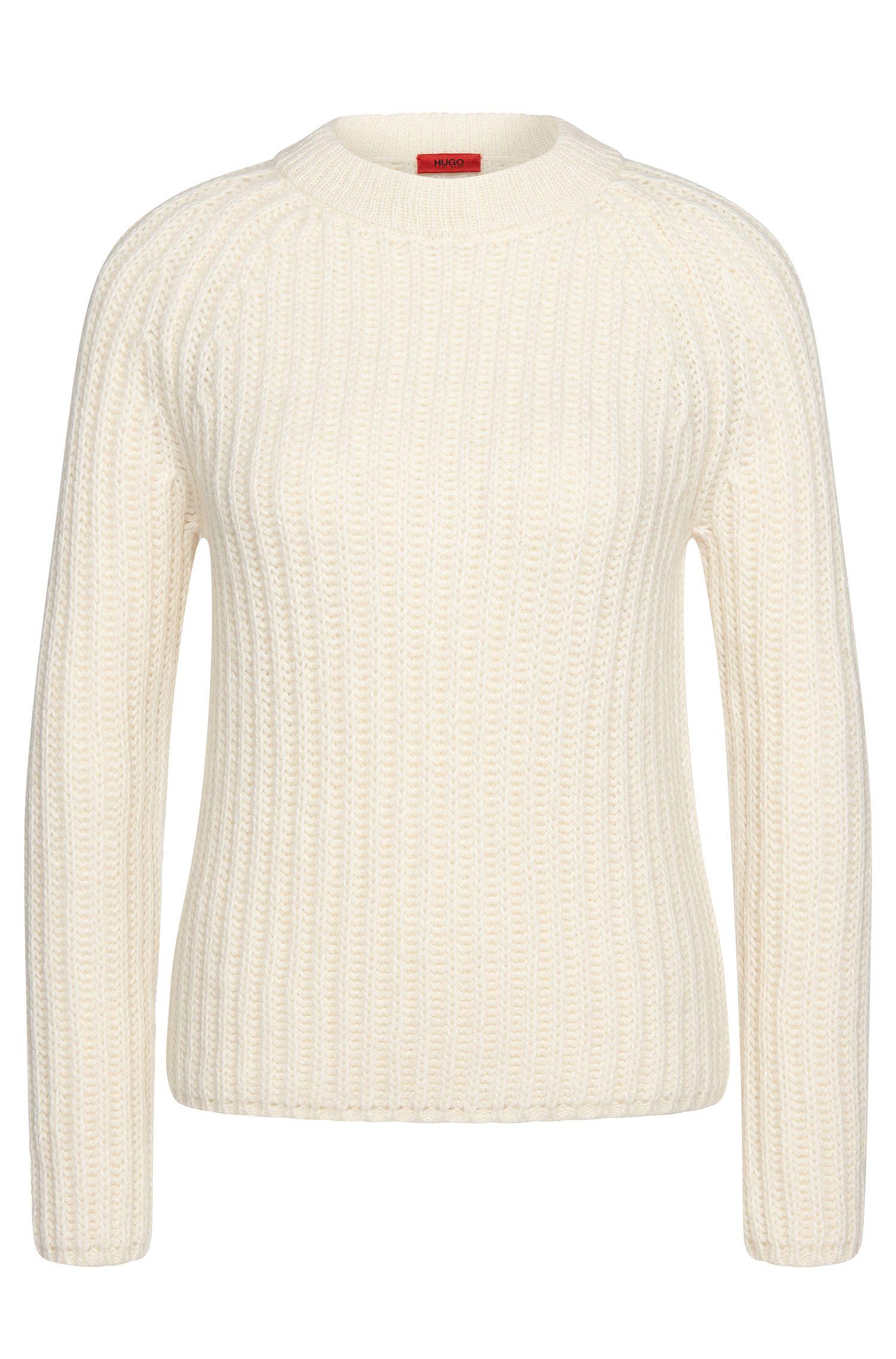Jersey en mezcla de lana con mangas raglán: 'Serella'