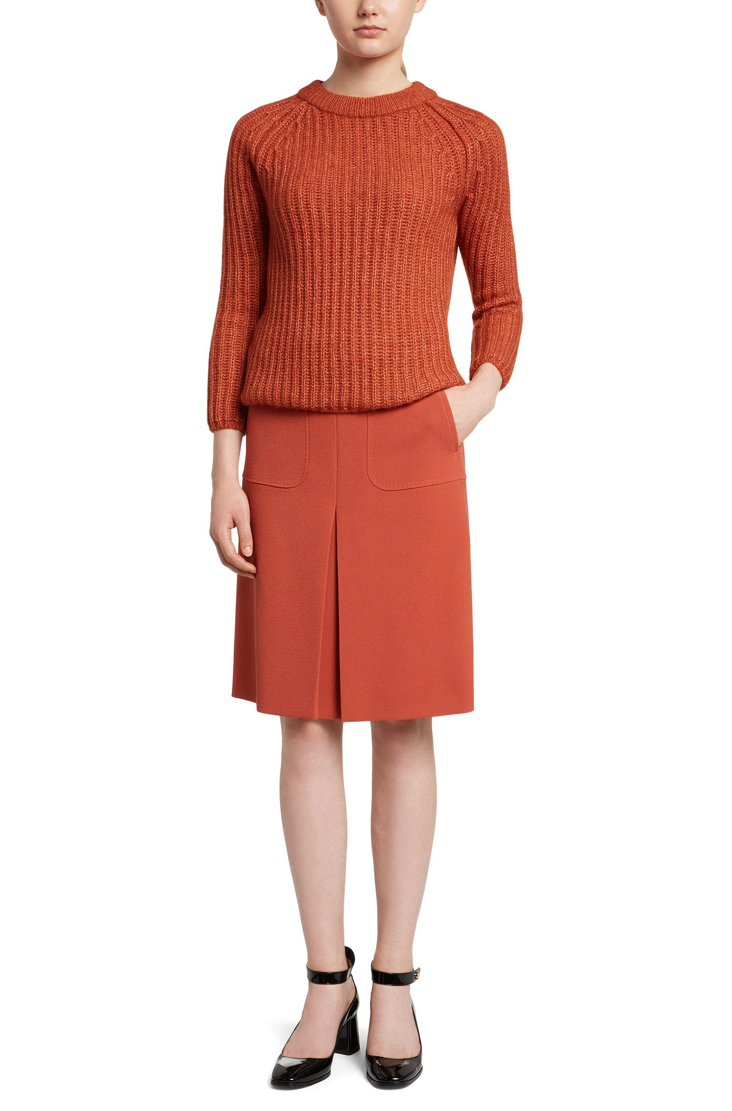 Pull en laine mélangée à manches raglan: «Serella»