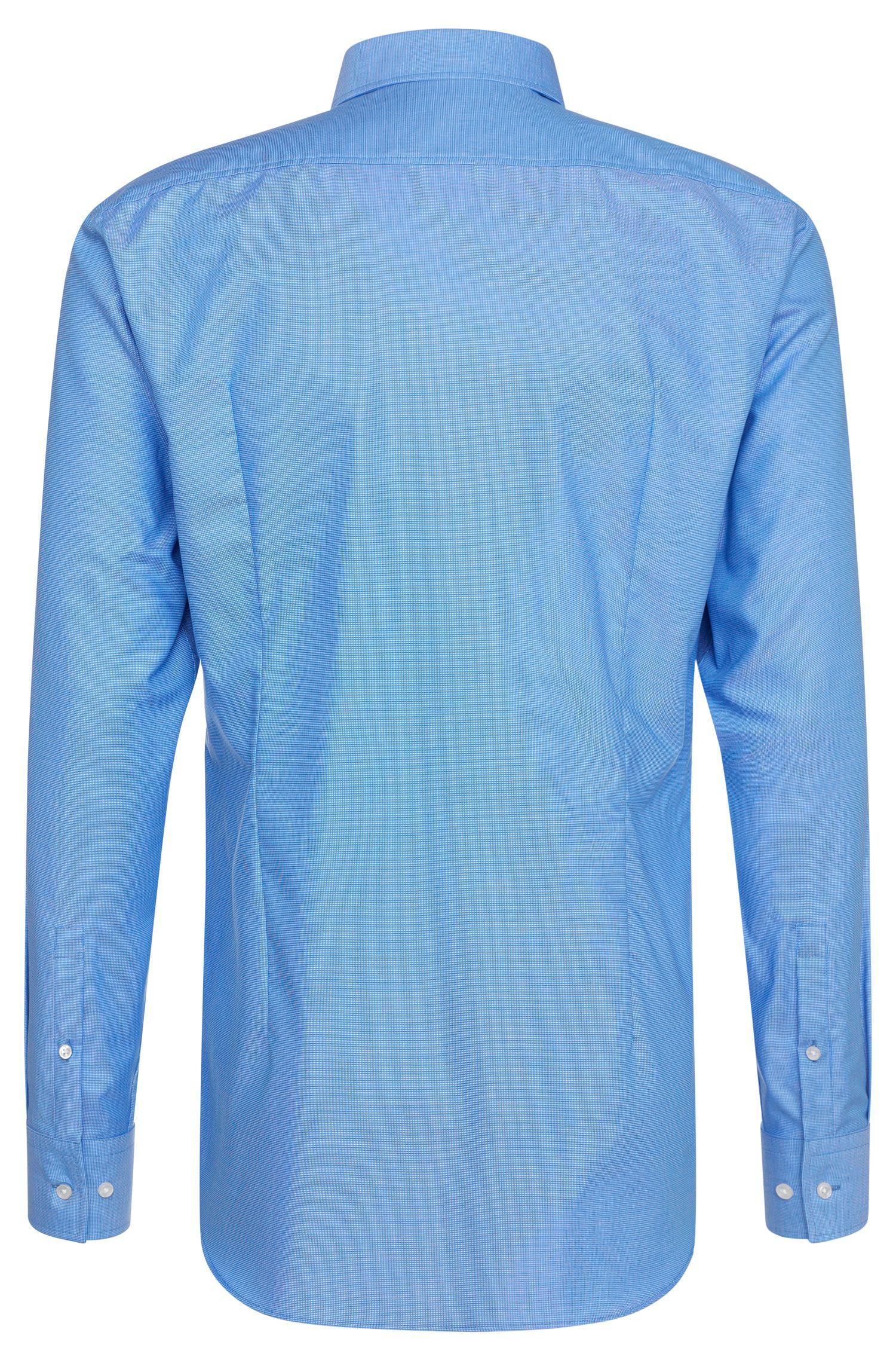 Fein gemustertes Slim-Fit Travel Line Hemd aus Baumwolle: 'Jason'