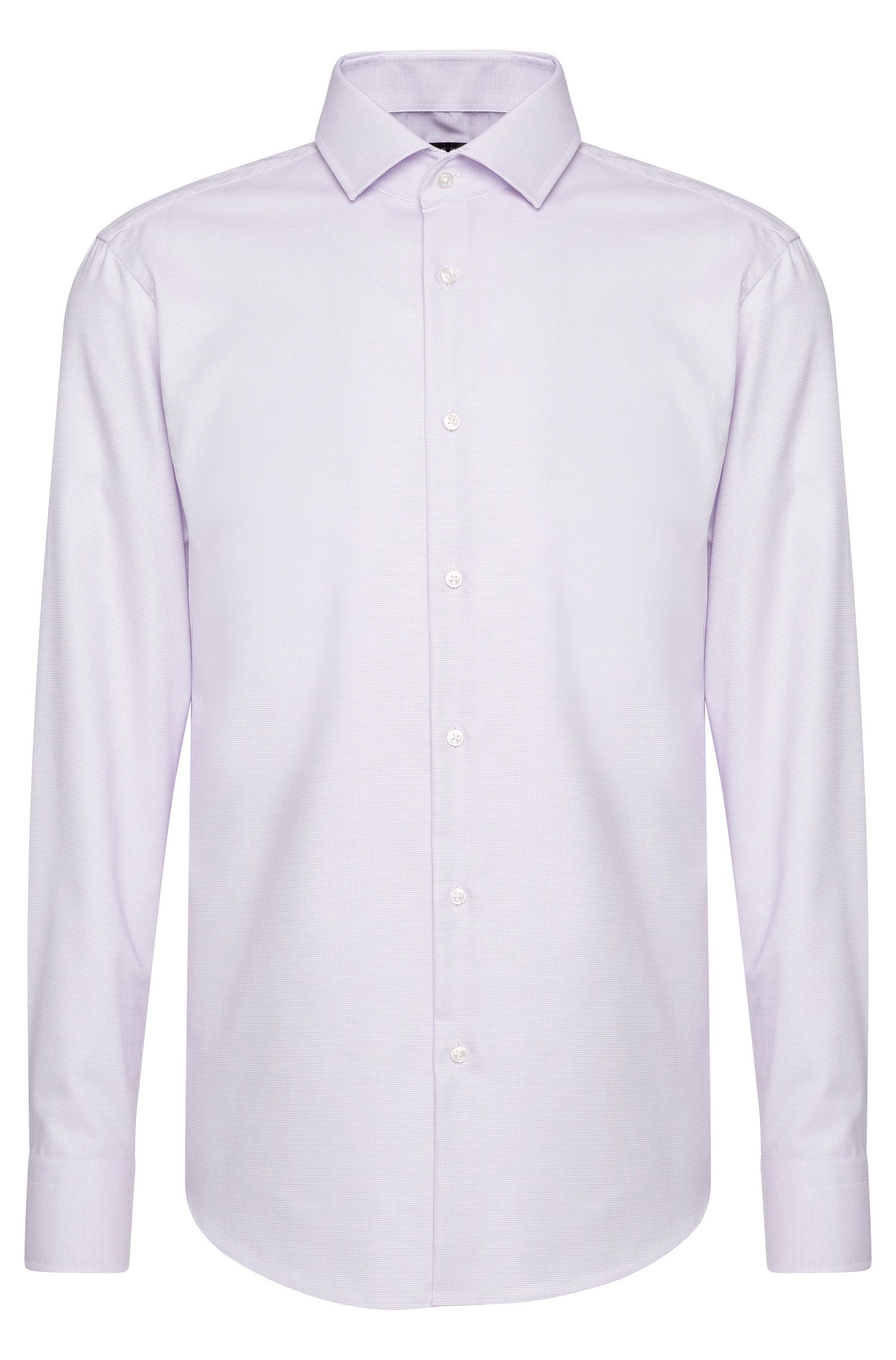 Chemise Travel Line Regular Fit en coton structuré : « Gordon »