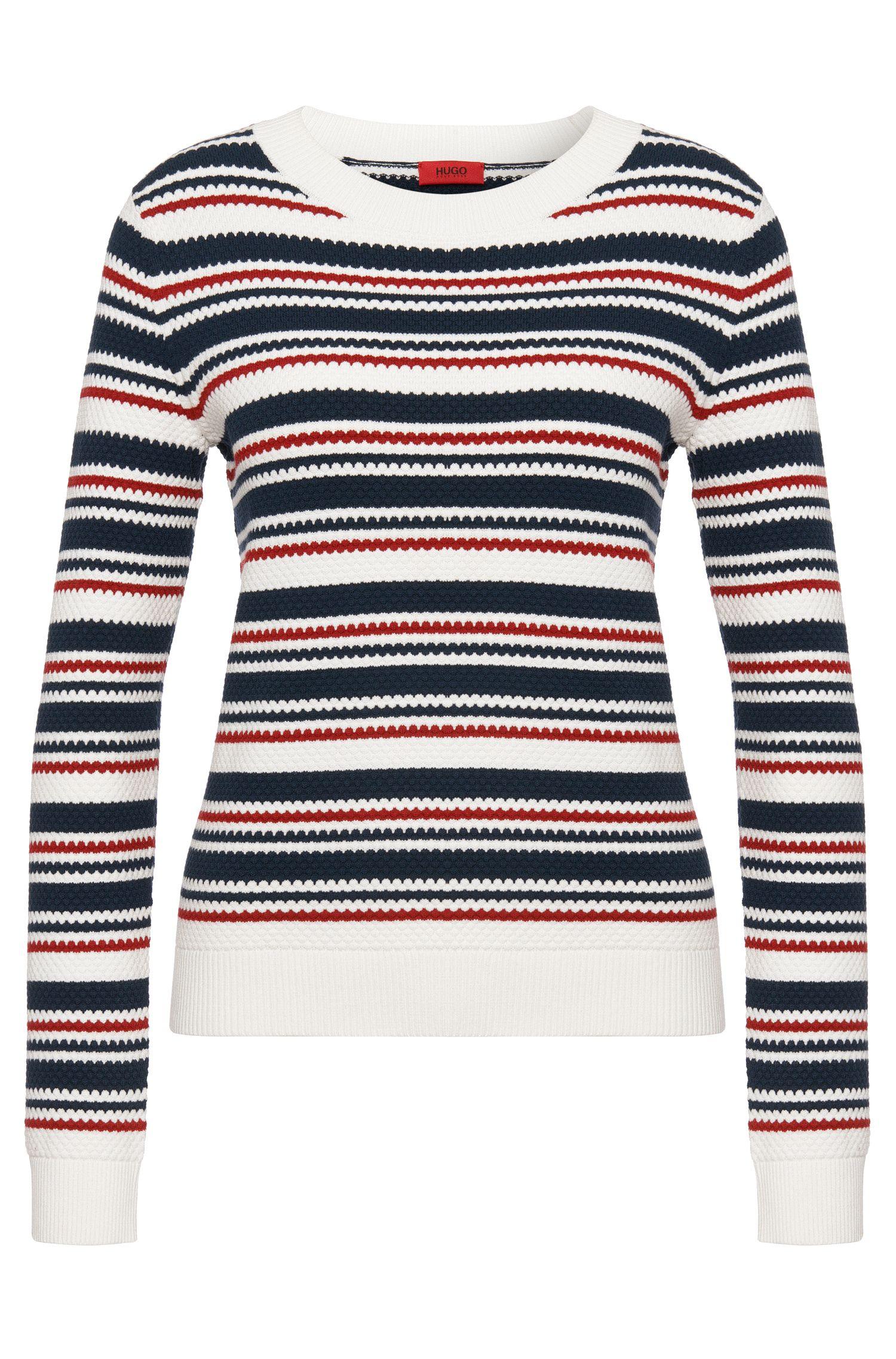 Striped sweater in viscose blend: 'Silkana'