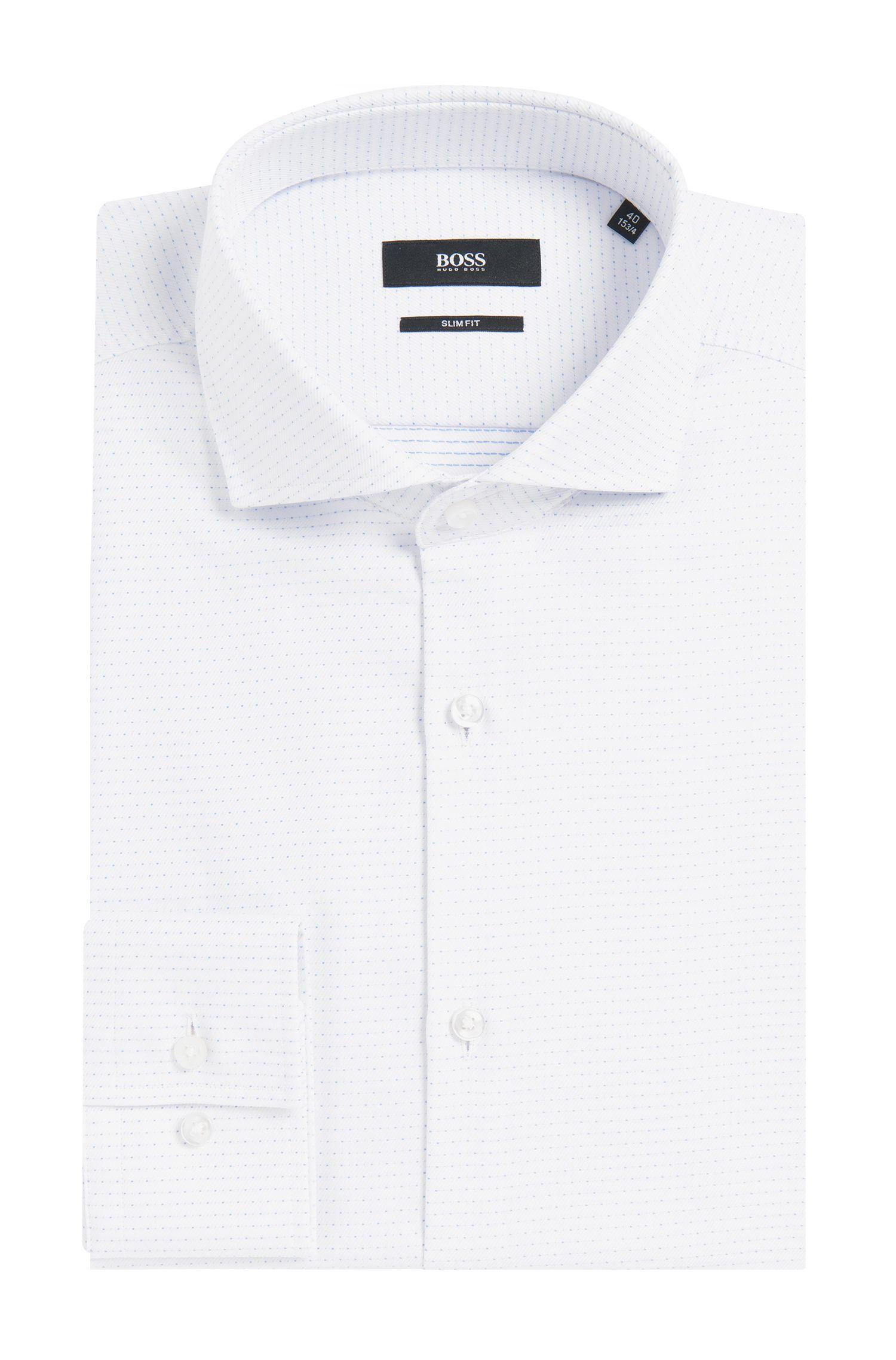 Chemise en coton Slim Fit ornée de fines surpiqûres: «Jason»