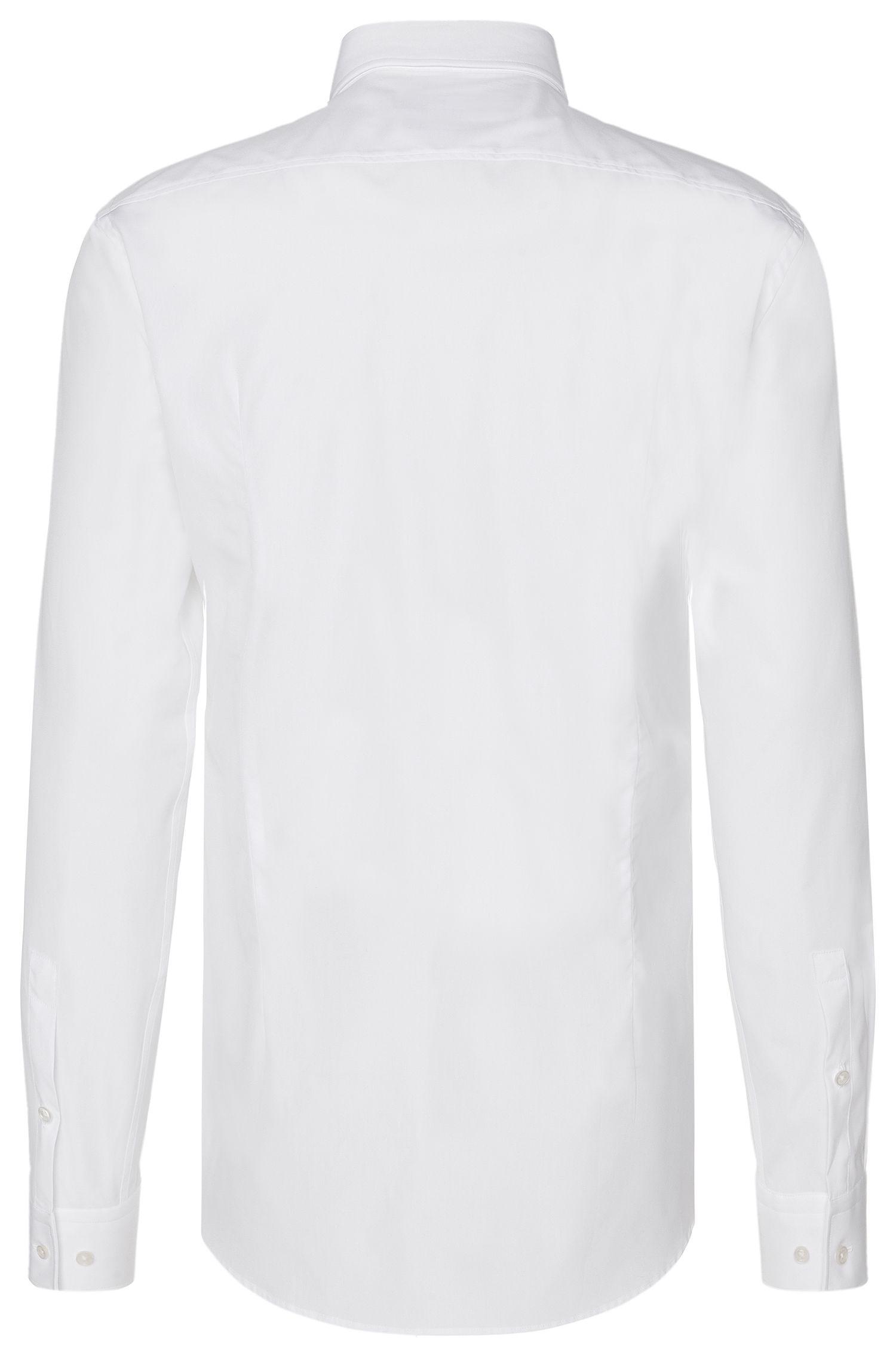 Effen slim-fit overhemd van katoen: 'Jenno'