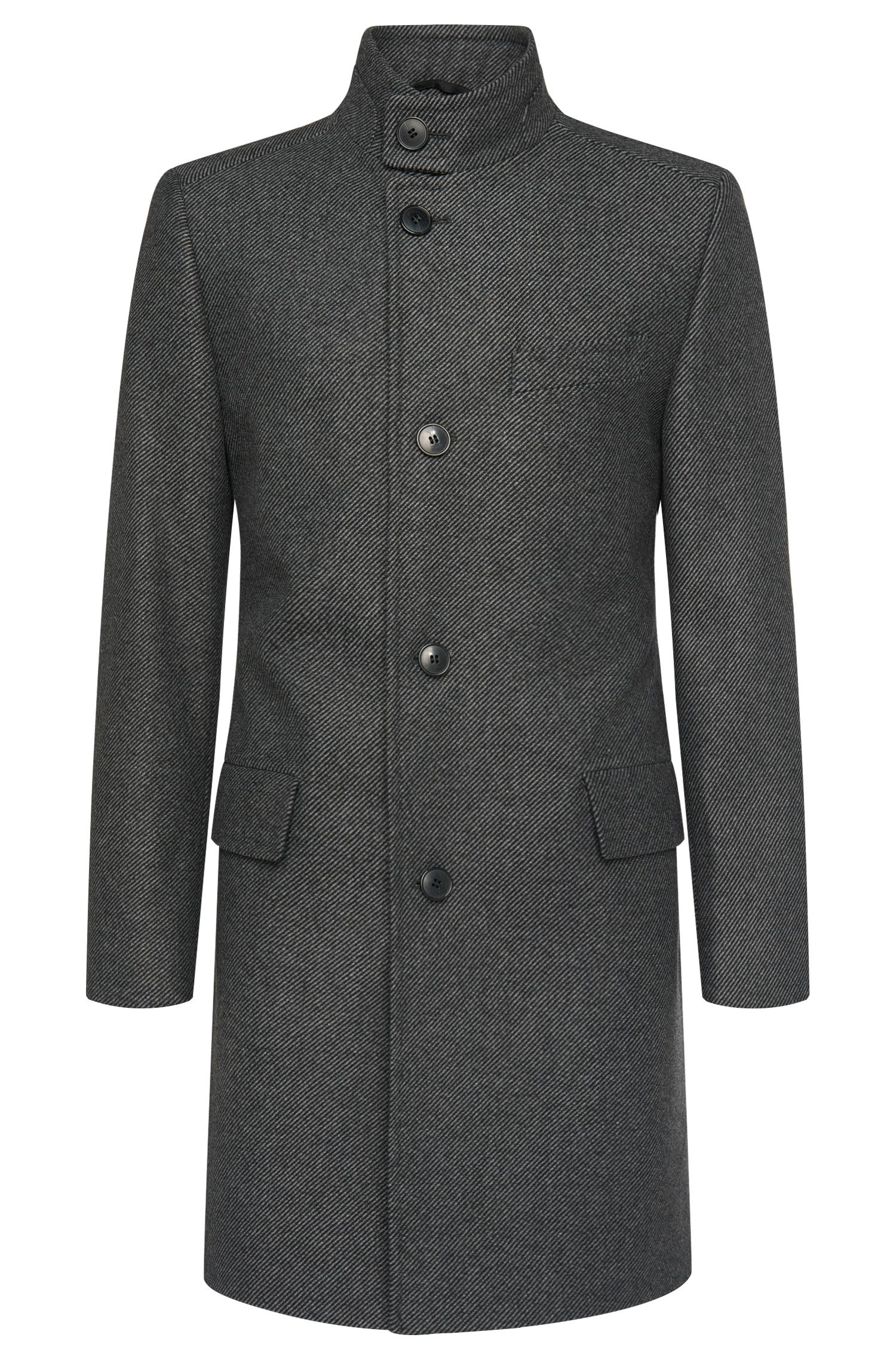 Striped regular-fit coat in a wool blend: 'C-Sintrax'