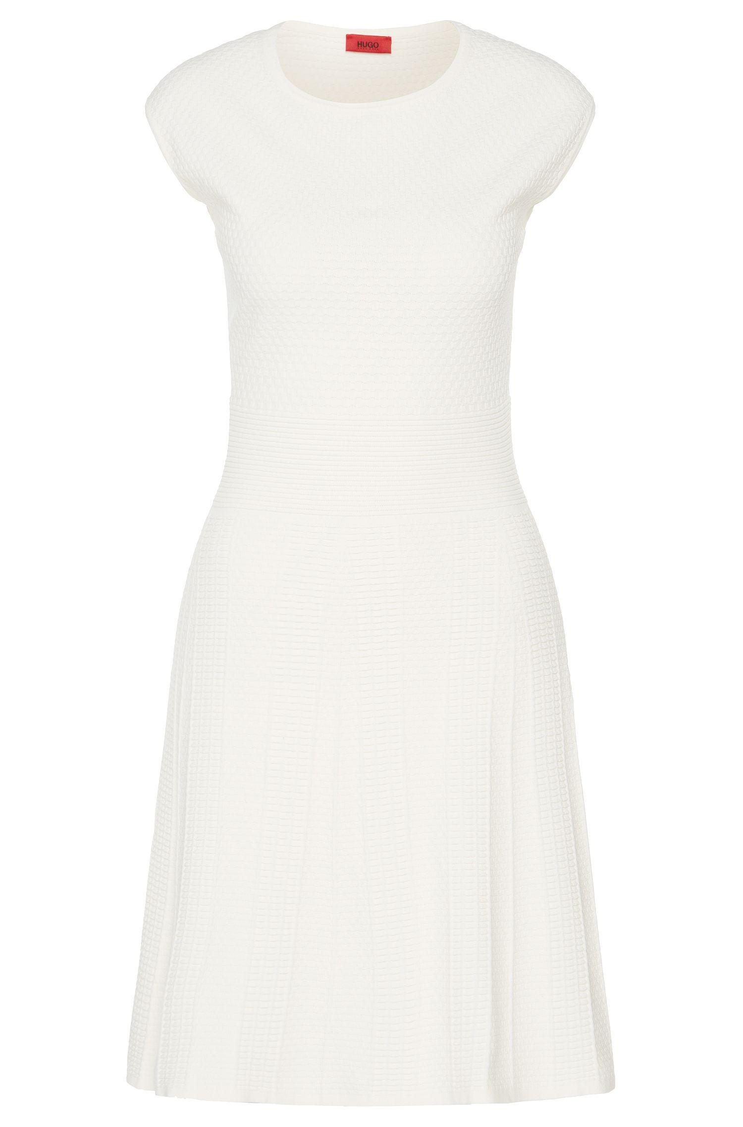 Gebreide jurk van een viscosemix met structuur: 'Svania'