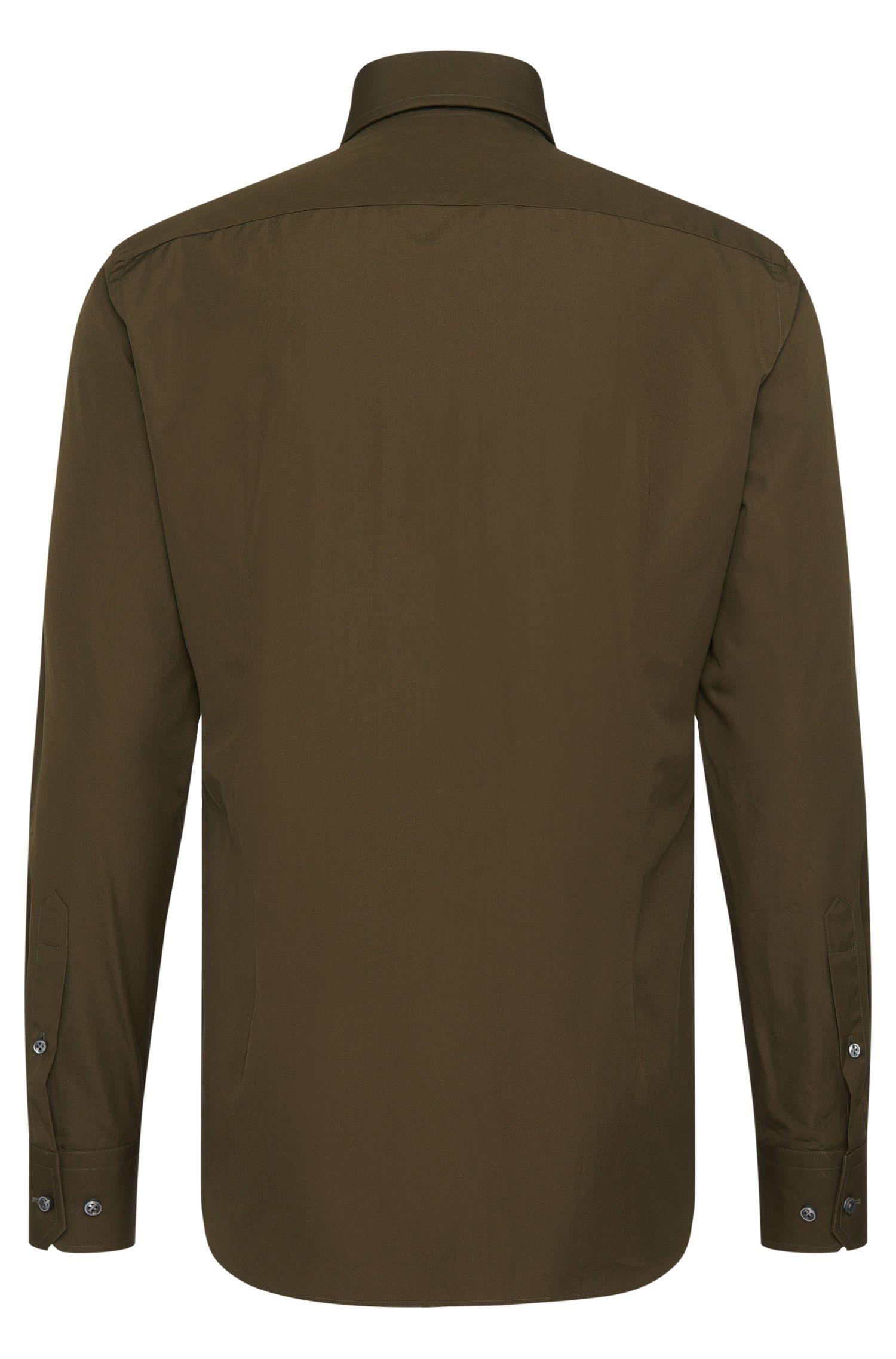 Chemise Slim Fit Tailored, en coton uni: «T-Christo»