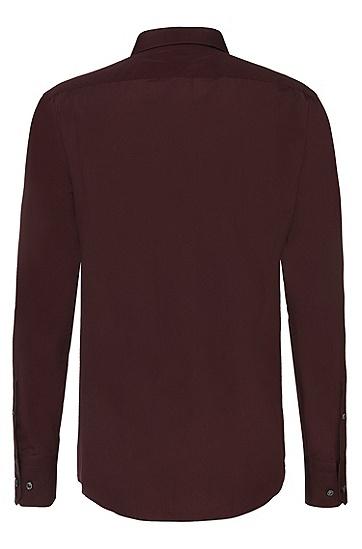 Slim-Fit Tailored Hemd aus reiner Baumwolle: 'T-Scott', Dunkelrot