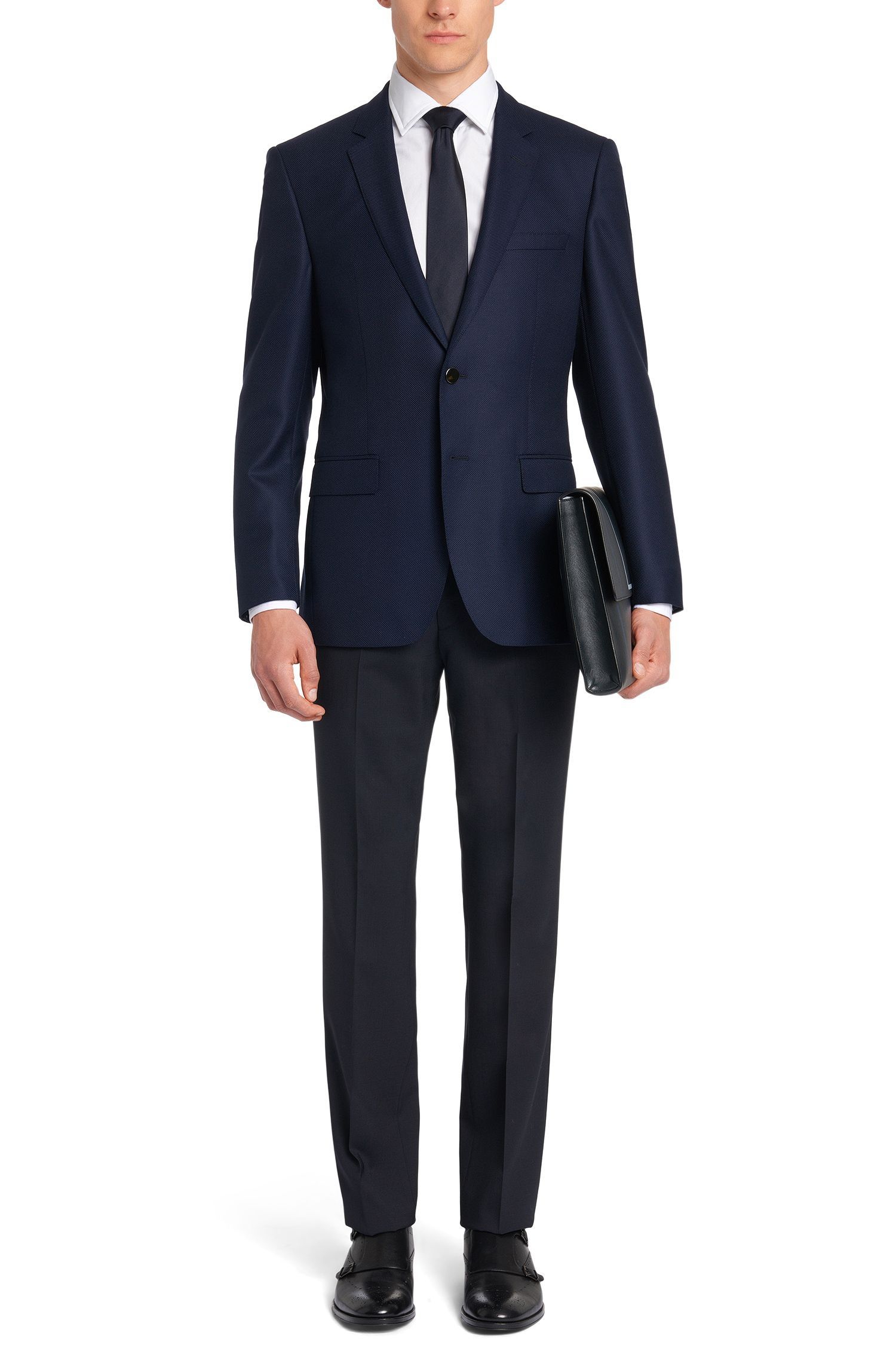 Slim-Fit Tailored Baumwollhemd mit Perlmuttknöpfen: 'T-Shane'