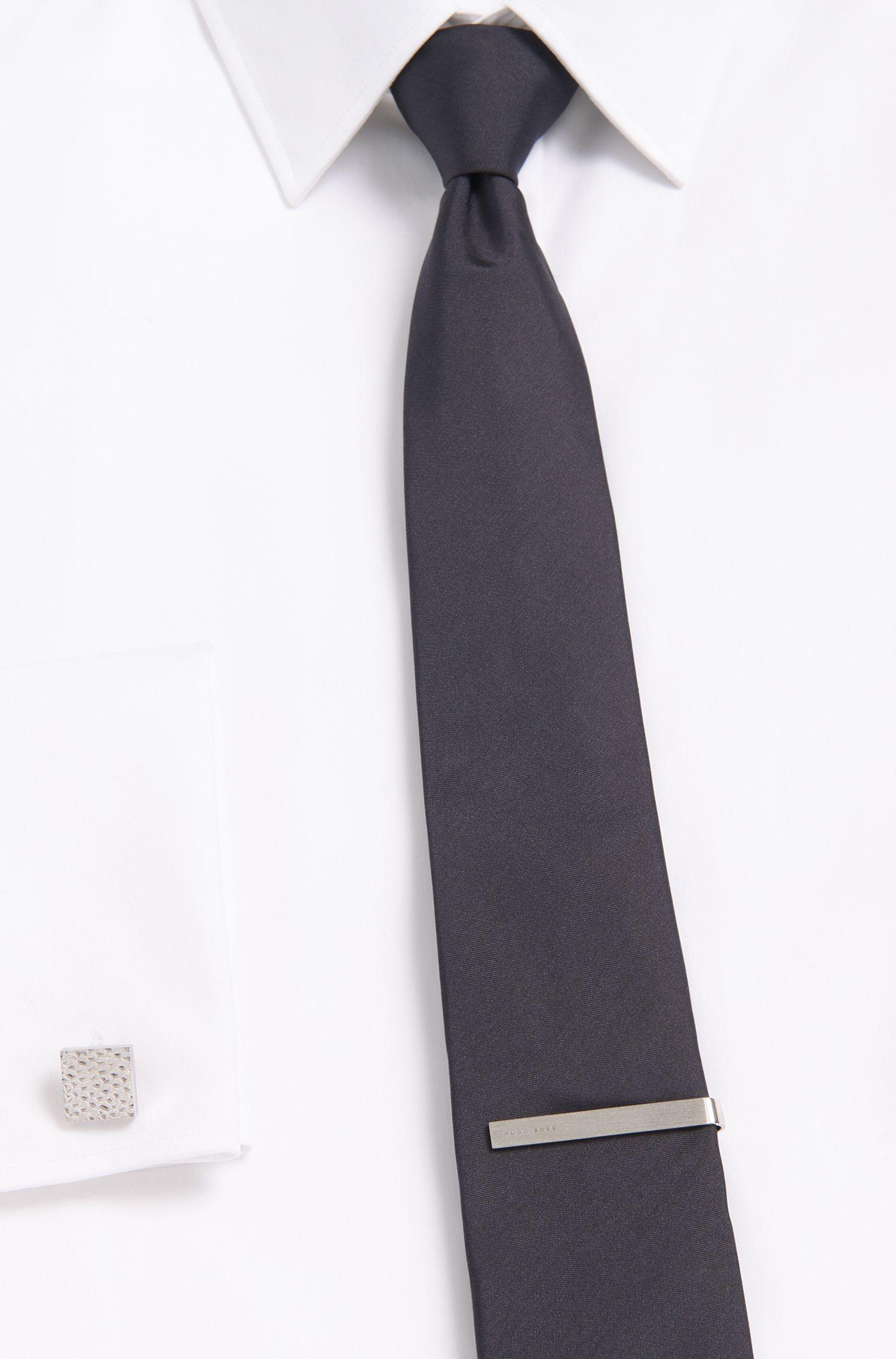 Krawattennadel aus Bronze in gebürsteter Optik: 'Tye'