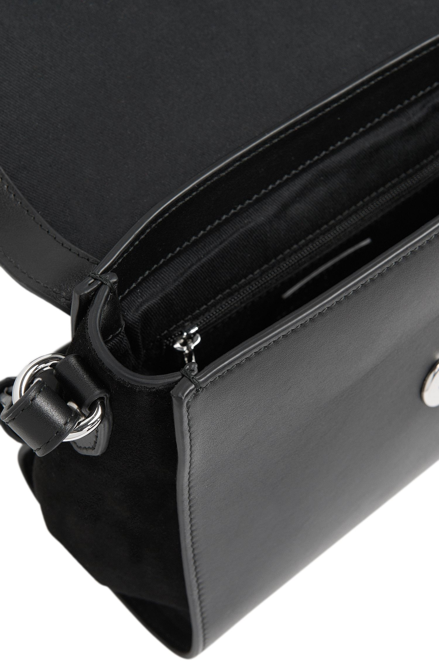 Kleine Umhängetasche aus Leder mit verstellbarem Schulterriemen: 'Faith'