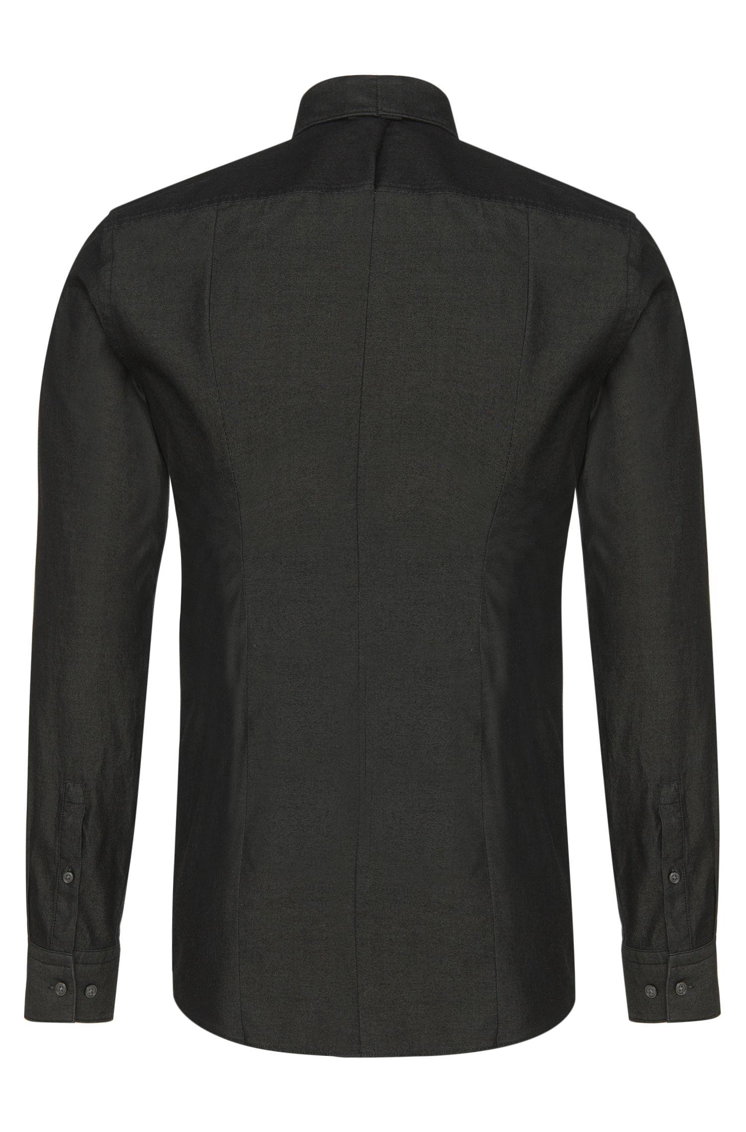 Slim-Fit Hemd aus Baumwolle im Denim-Stil: 'Isaak'