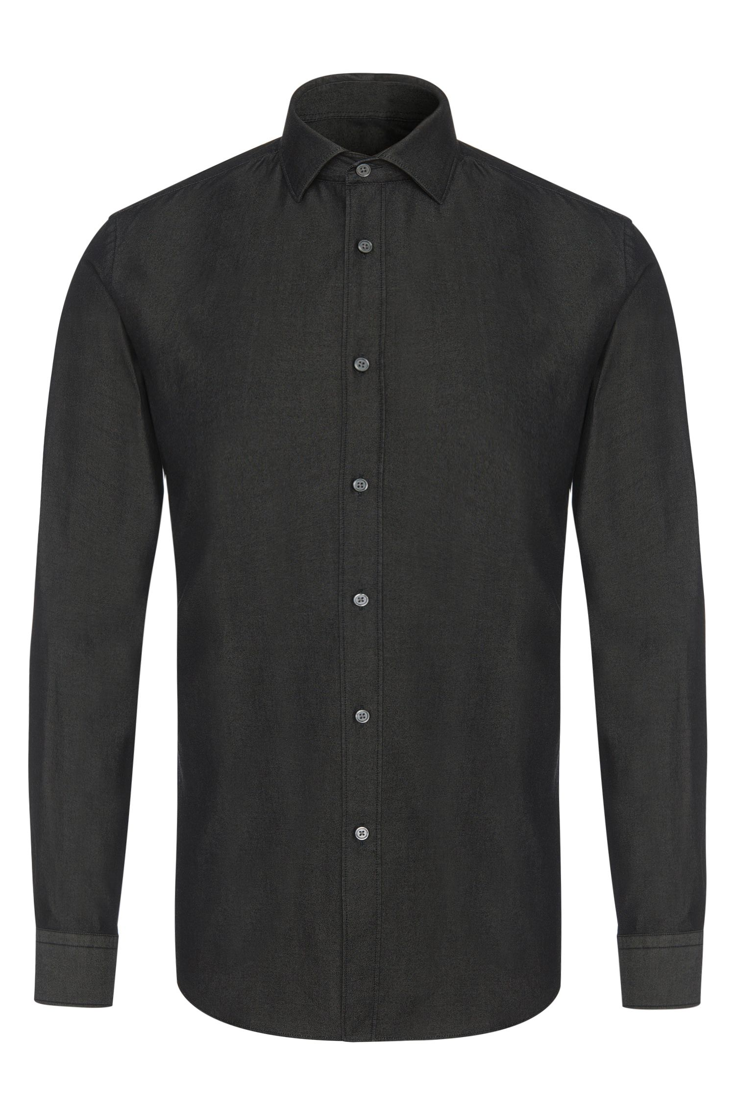 Chemise Slim Fit en denim de coton : « Isaak »