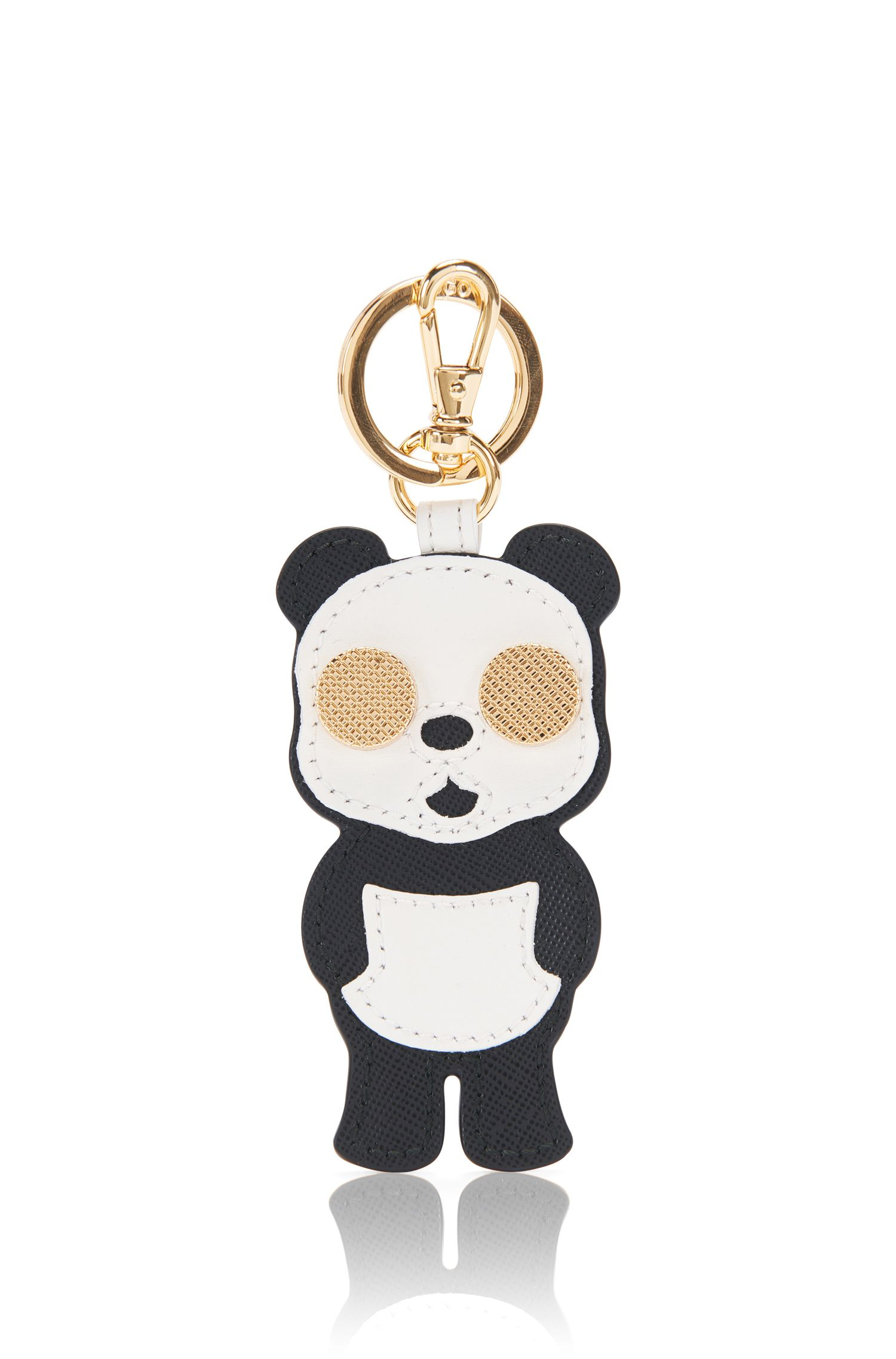 Porte-clés à motif panda en cuir: «Kiki-M»