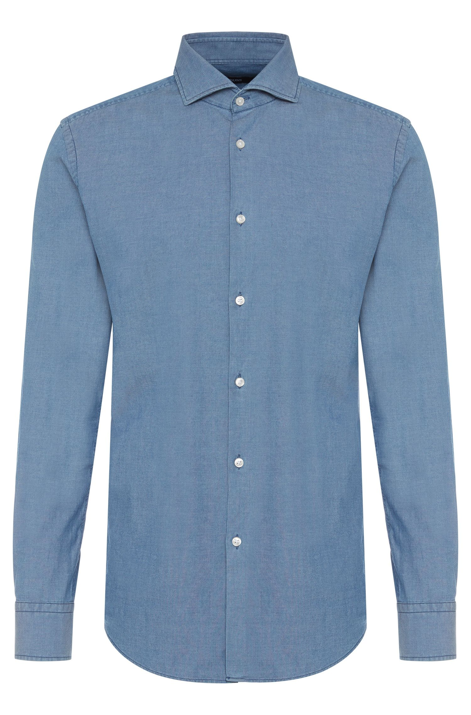 Slim-fit shirt in cotton: 'Jason'