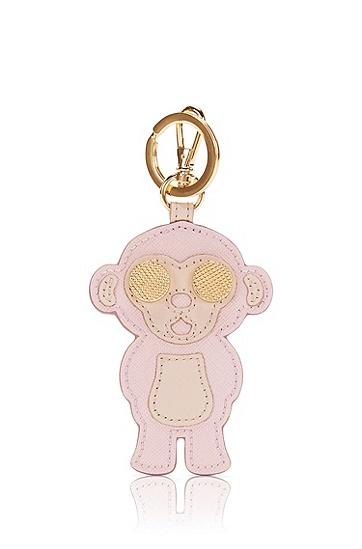 Schlüsselanhänger aus Leder im Affen-Design: 'Karlie-M', Hellrosa