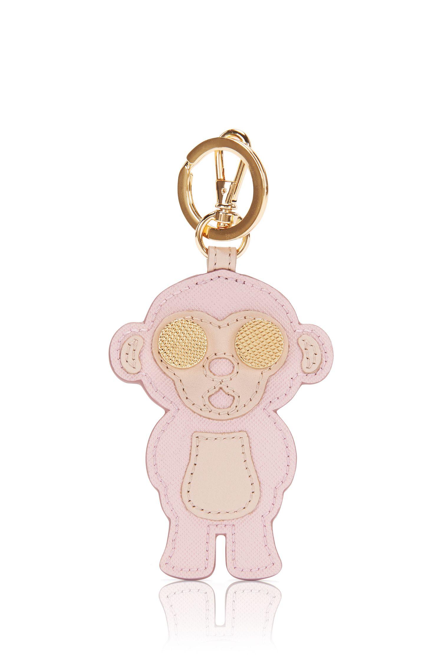 Porte-clés en cuir à motif singe: «Karlie-M»