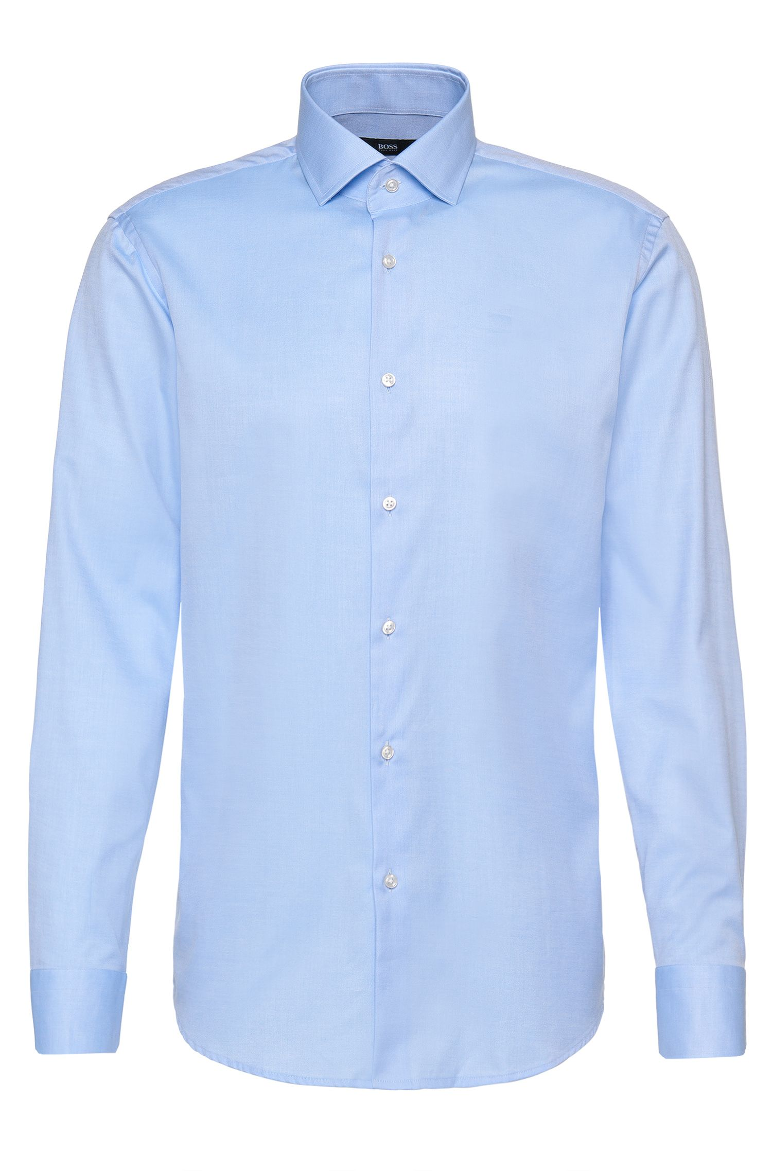 Chemise Regular Fit unie en coton : « Gordon »