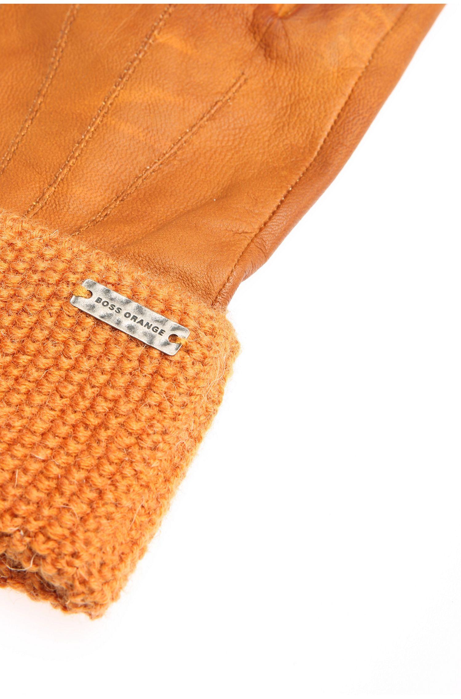 Handschuhe aus Leder mit Strickmanschette: ´Gundy`