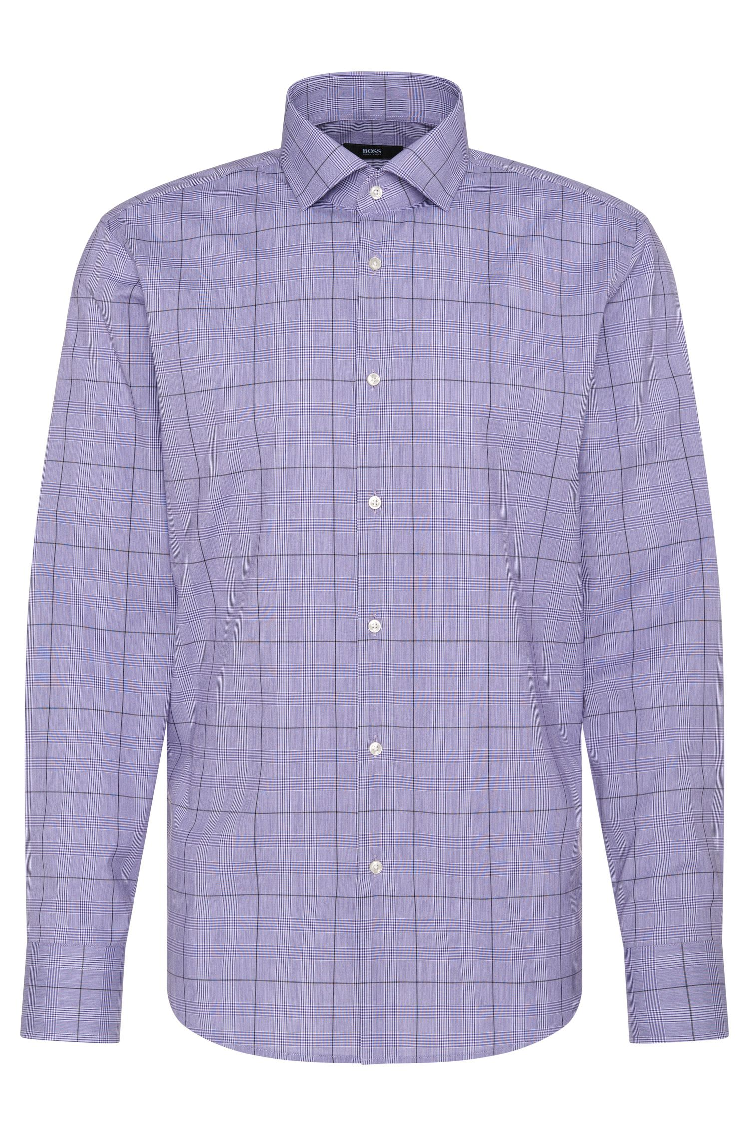 Camicia regular fit a quadretti in puro cotone: 'Gordon'