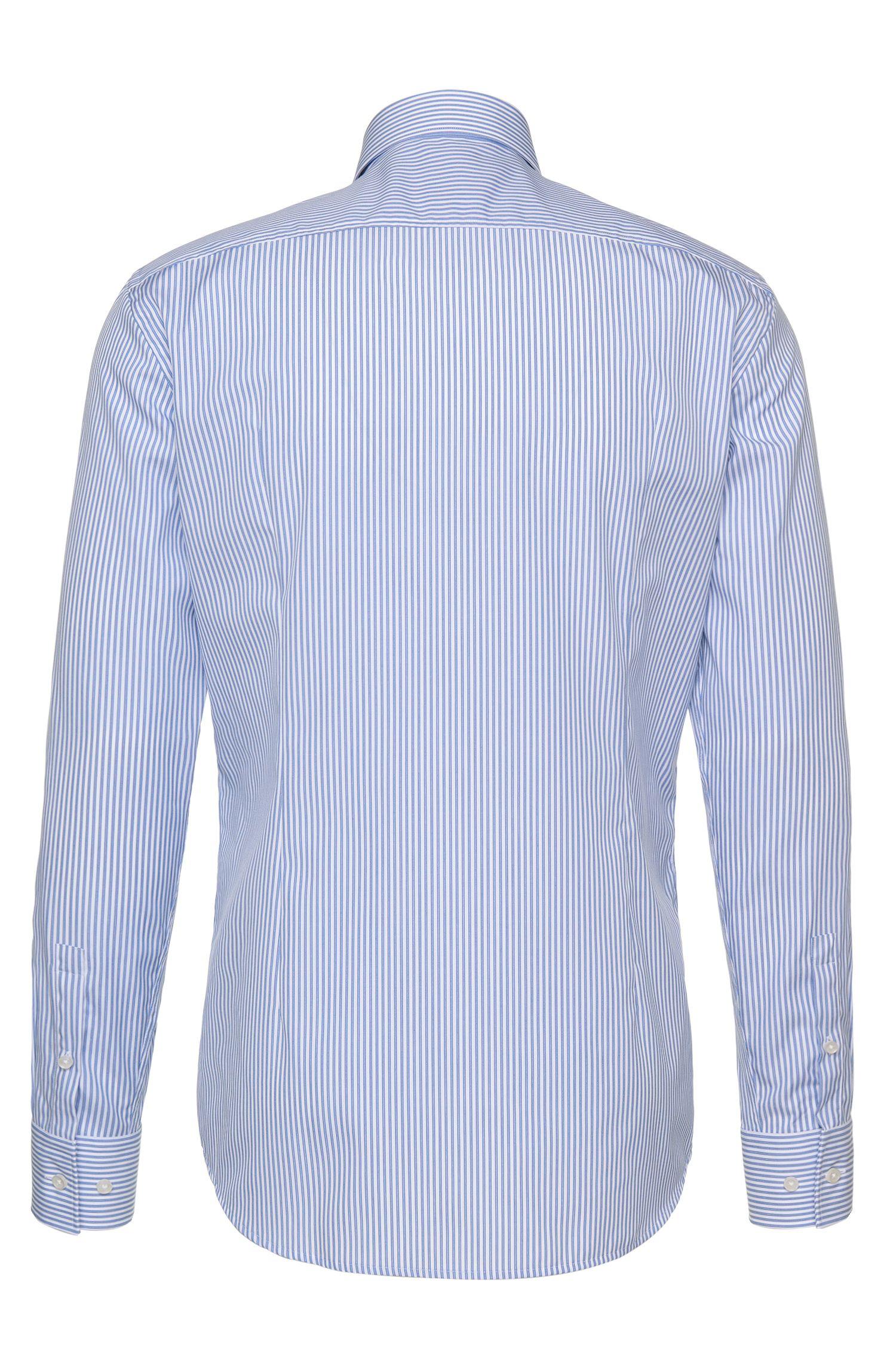 Gestreiftes Slim-Fit Hemd aus bügelleichter Baumwolle: 'Jenno'