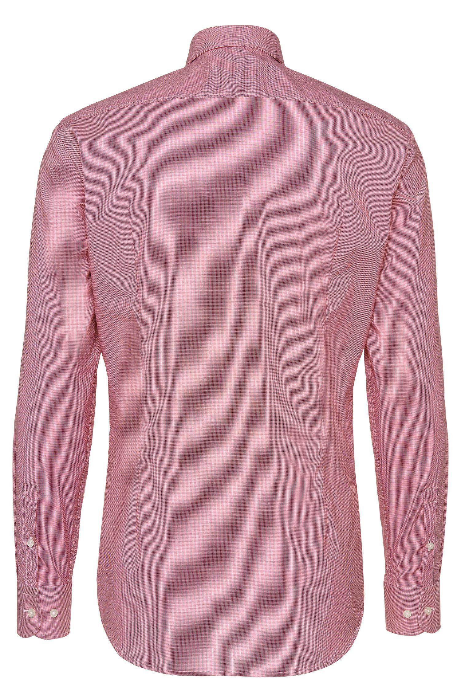 Gemustertes Slim-Fit Hemd aus Baumwolle: 'Jery'