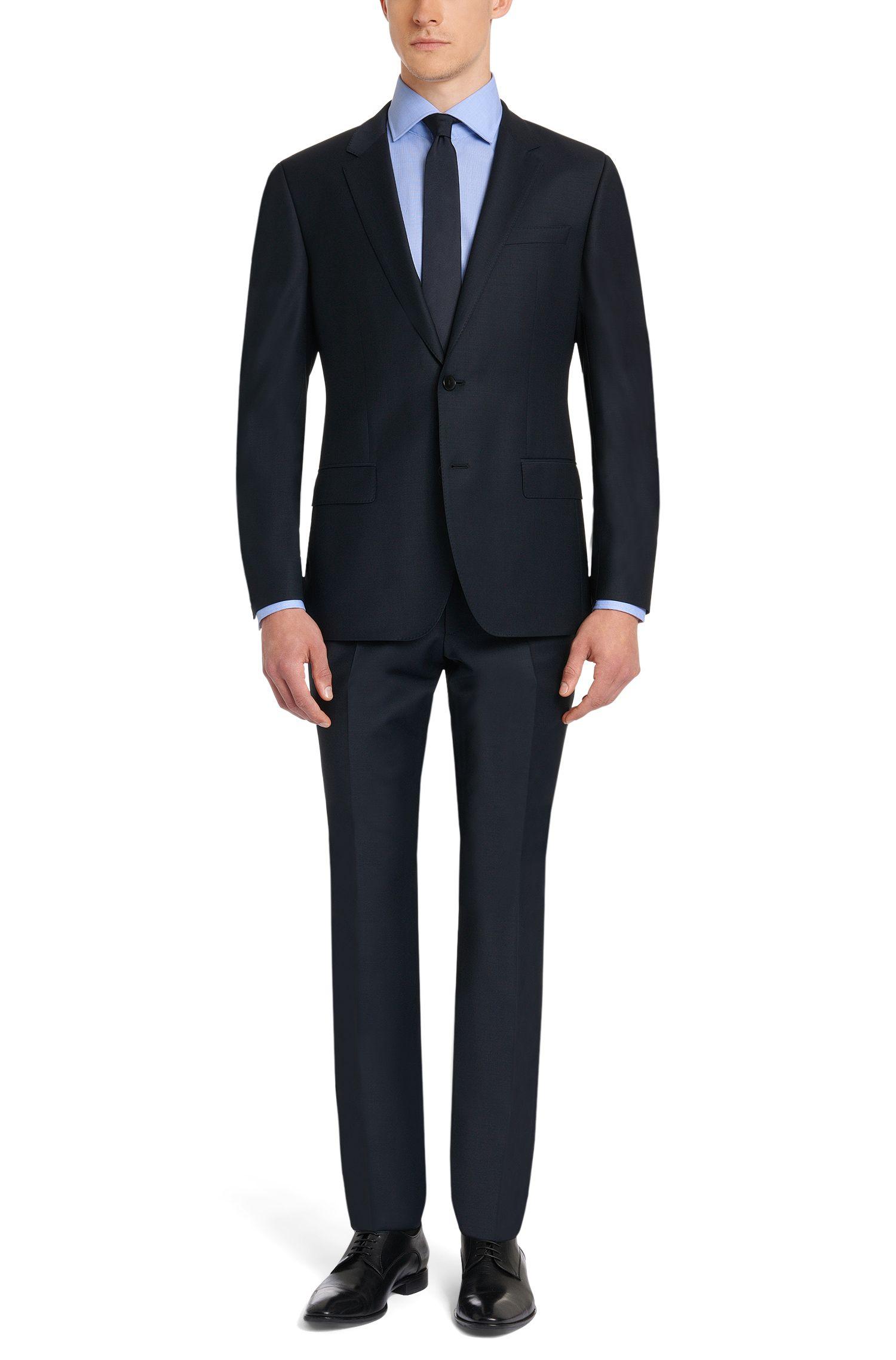 Regular-Fit Hemd aus Baumwolle mit kontrastiven Innenmanschetten: 'Gregory'