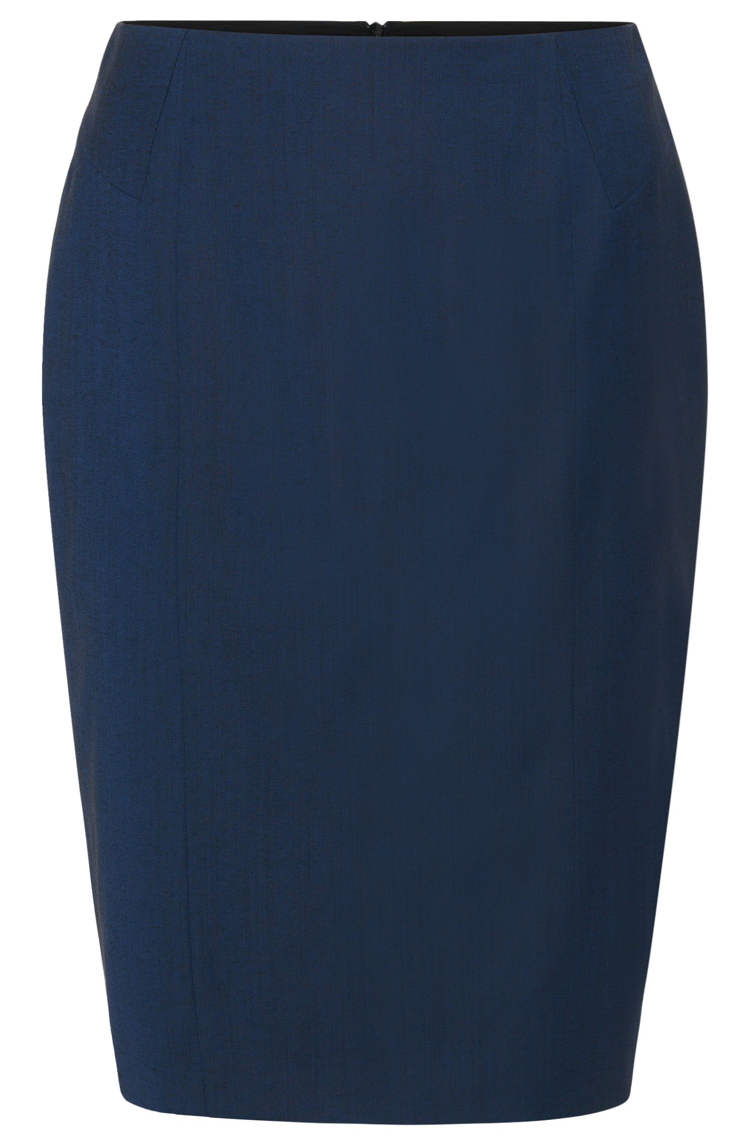Pencil skirt in stretchy new-wool blend: 'Vulea'