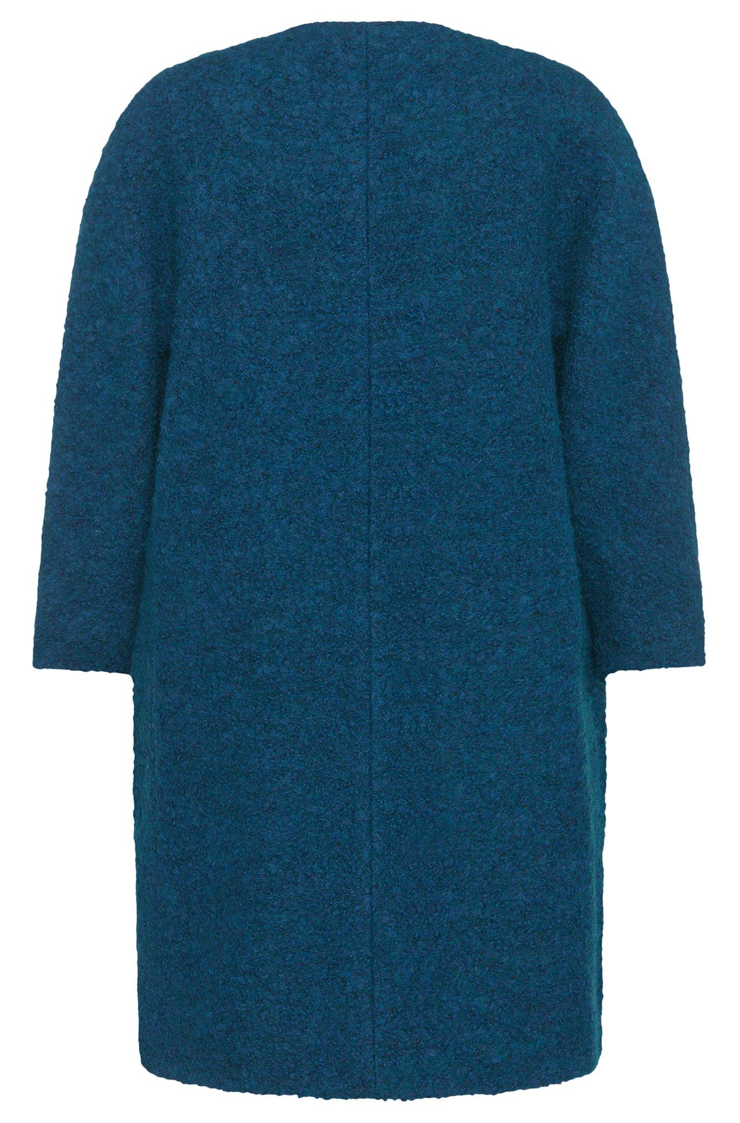 Manteau aspect maille bouclette, à manches kimono: «Malilli»