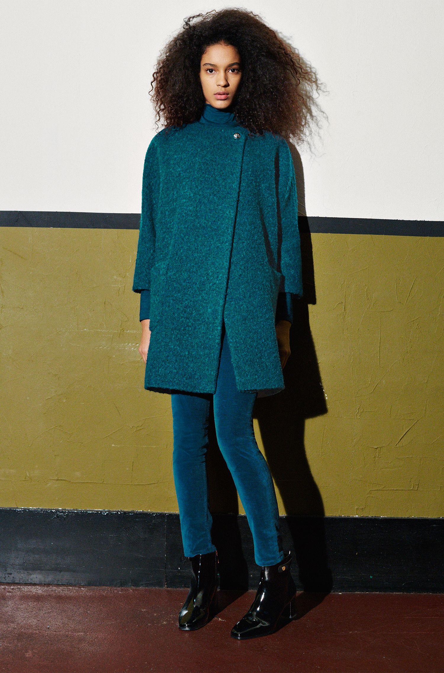 Mantel in Bouclé-Optik mit Kimono-Ärmeln: 'Malilli'