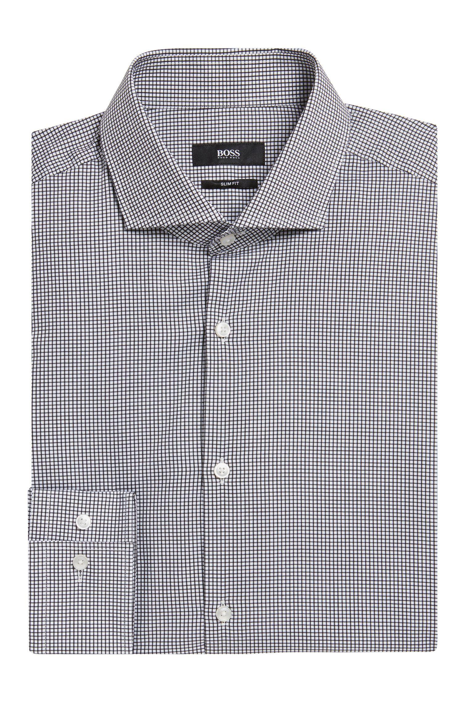 Chemise à fins carreaux Slim Fit en pur coton: «Jason»