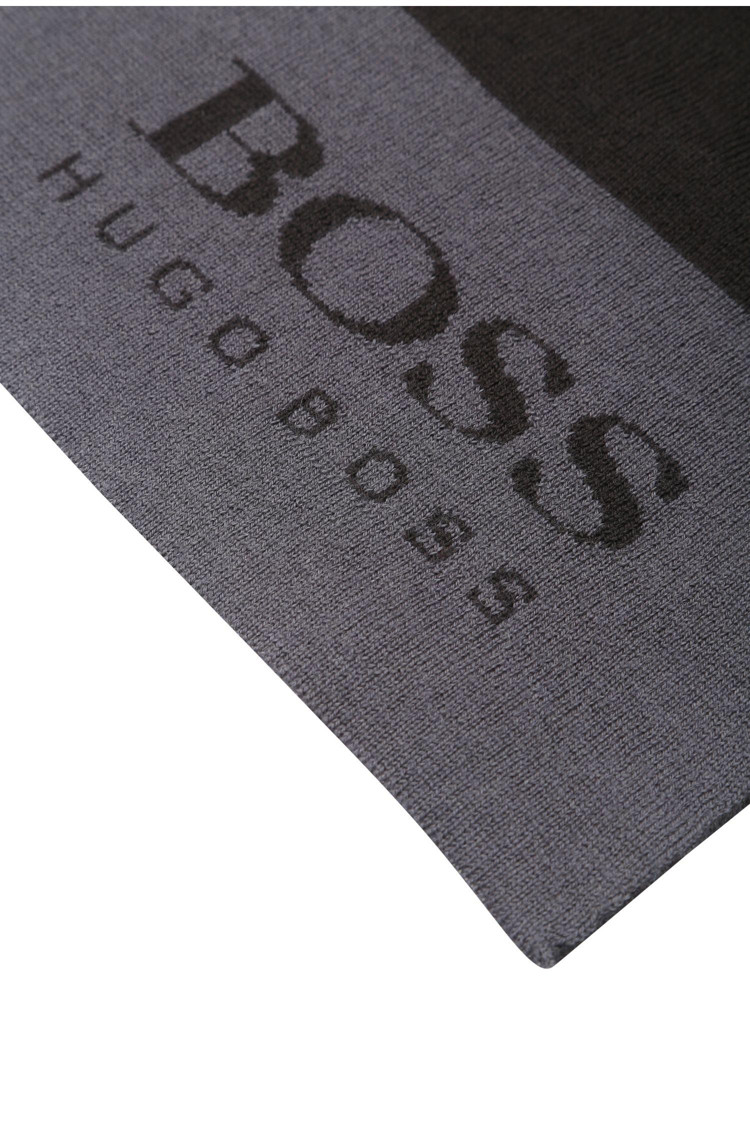 Écharpe en fine maille de laine mélangée avec logo: «Scarf»