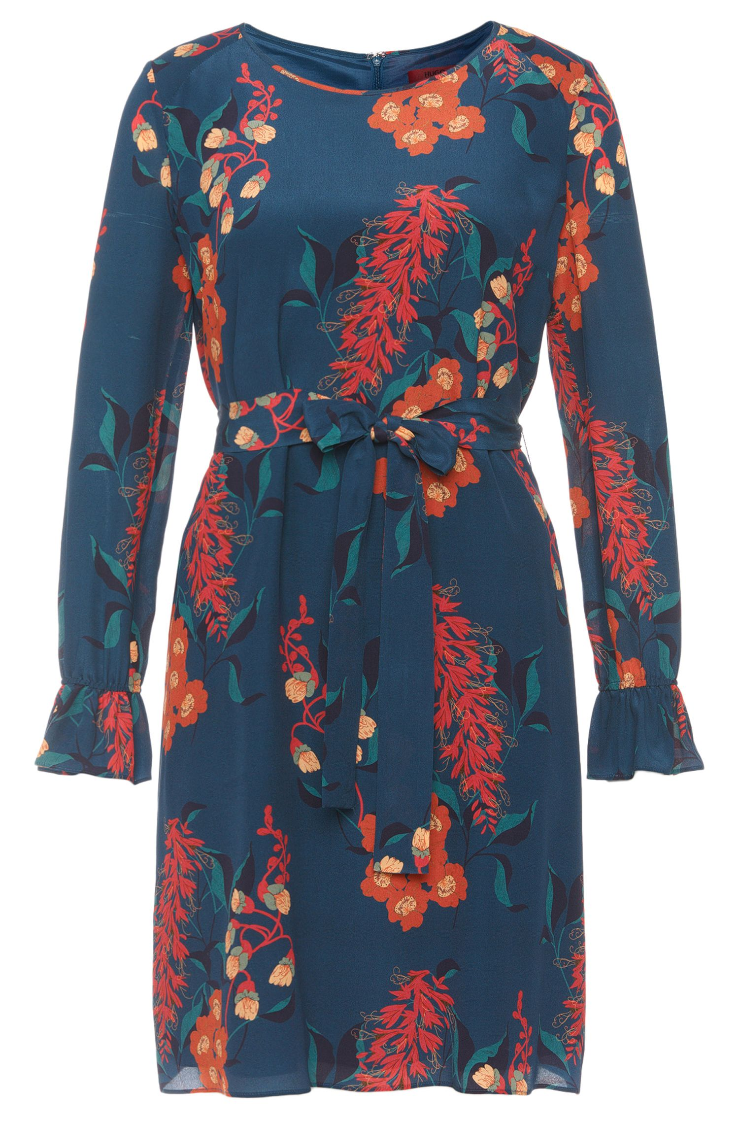 Silk dress with floral pattern: 'Kosas'